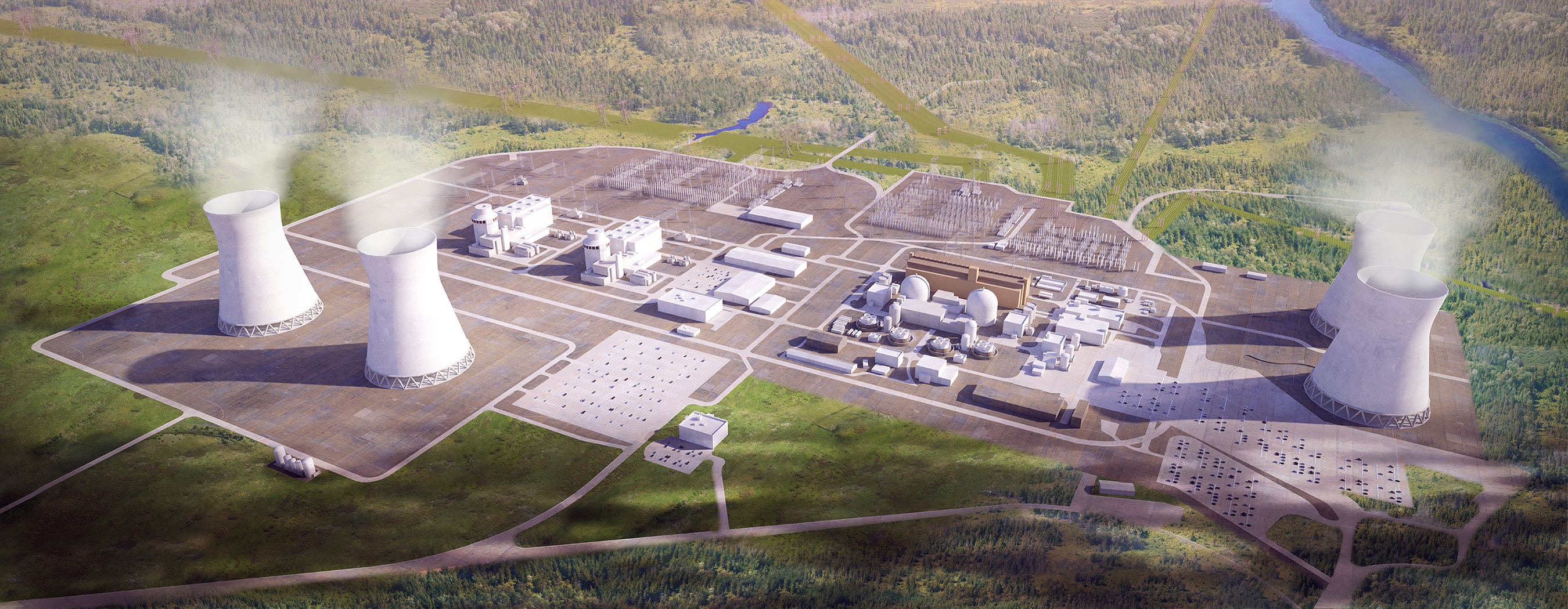 Artist Rendering of the Vogtle site