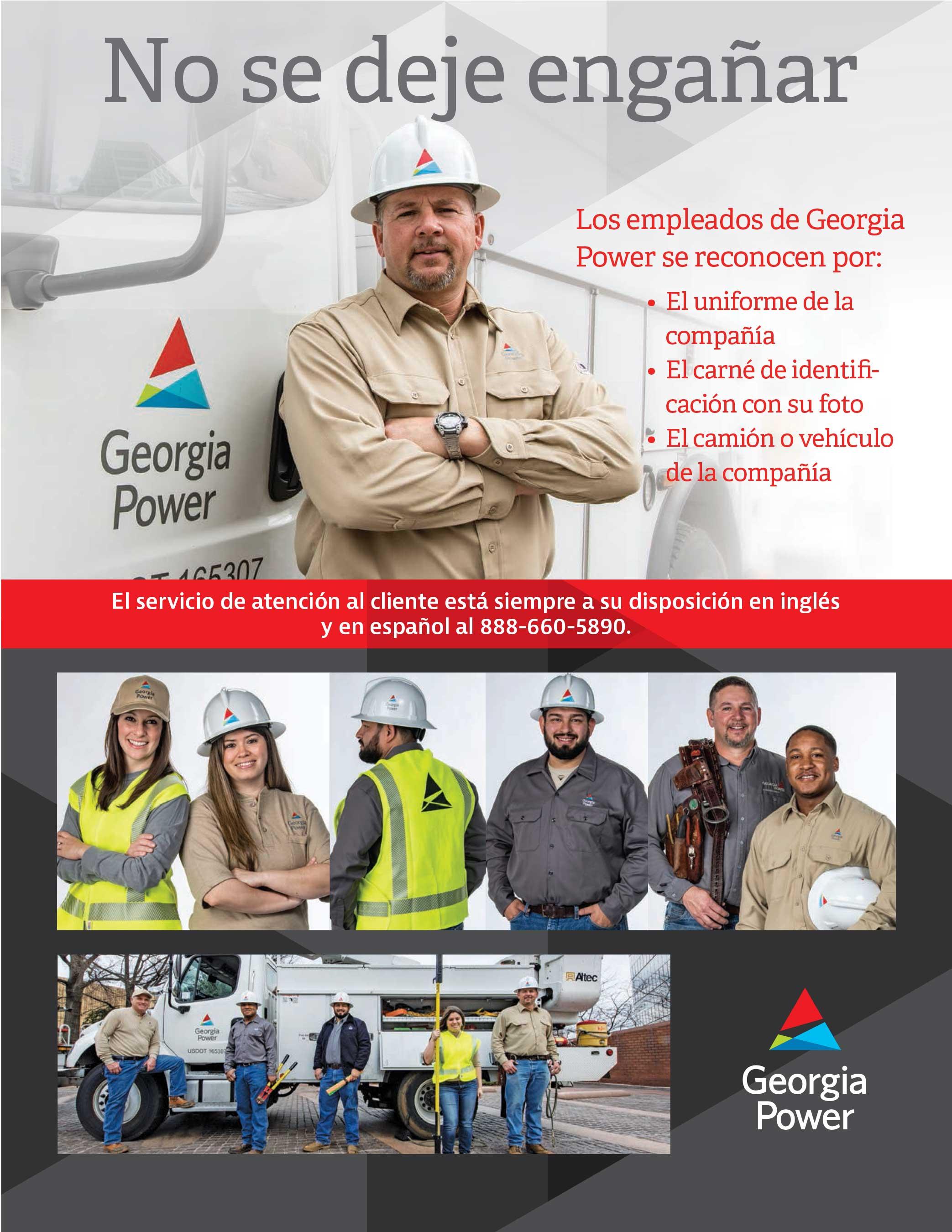 No se deje engañar. Learn how to identify Georgia Power employees in the field.