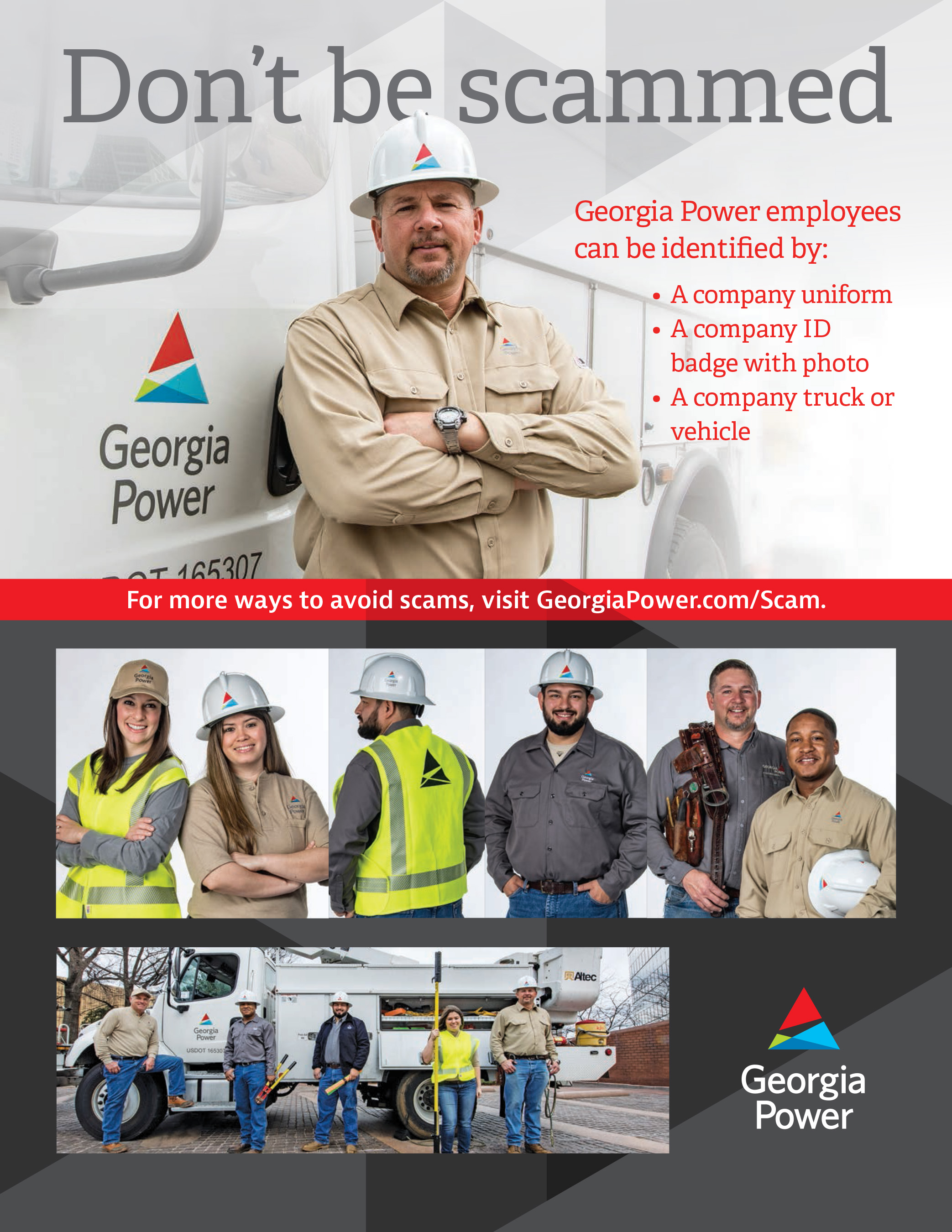Don't be scammed. Learn how to identify Georgia Power employees in the field.