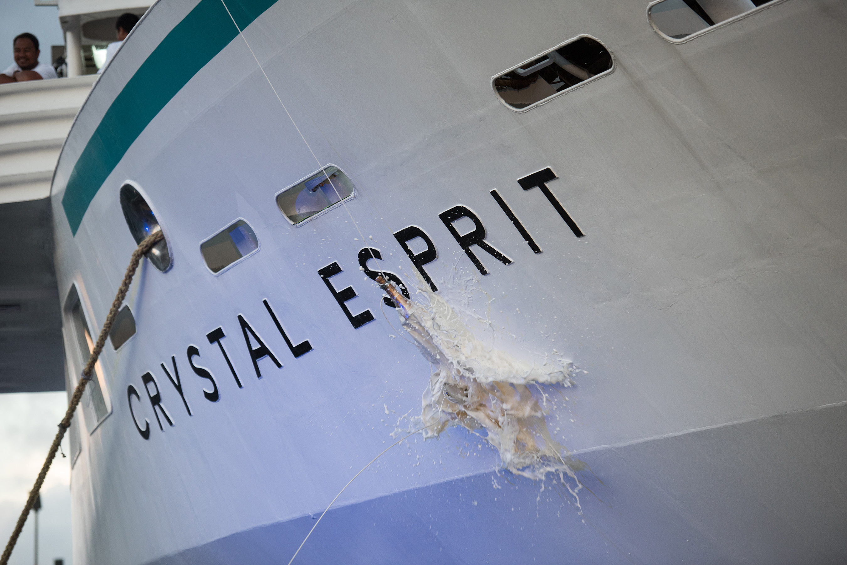 On December 20, 2015 Crystal Esprit was christened in an elegant ceremony at Eden Island Marina in Mahe, Victoria, Seychelles.