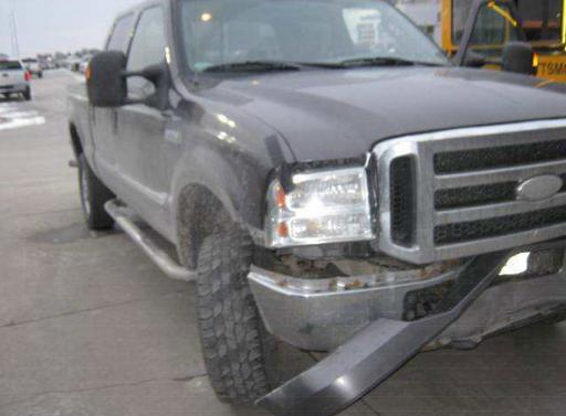 Pick-up truck involved in a collision with a deer