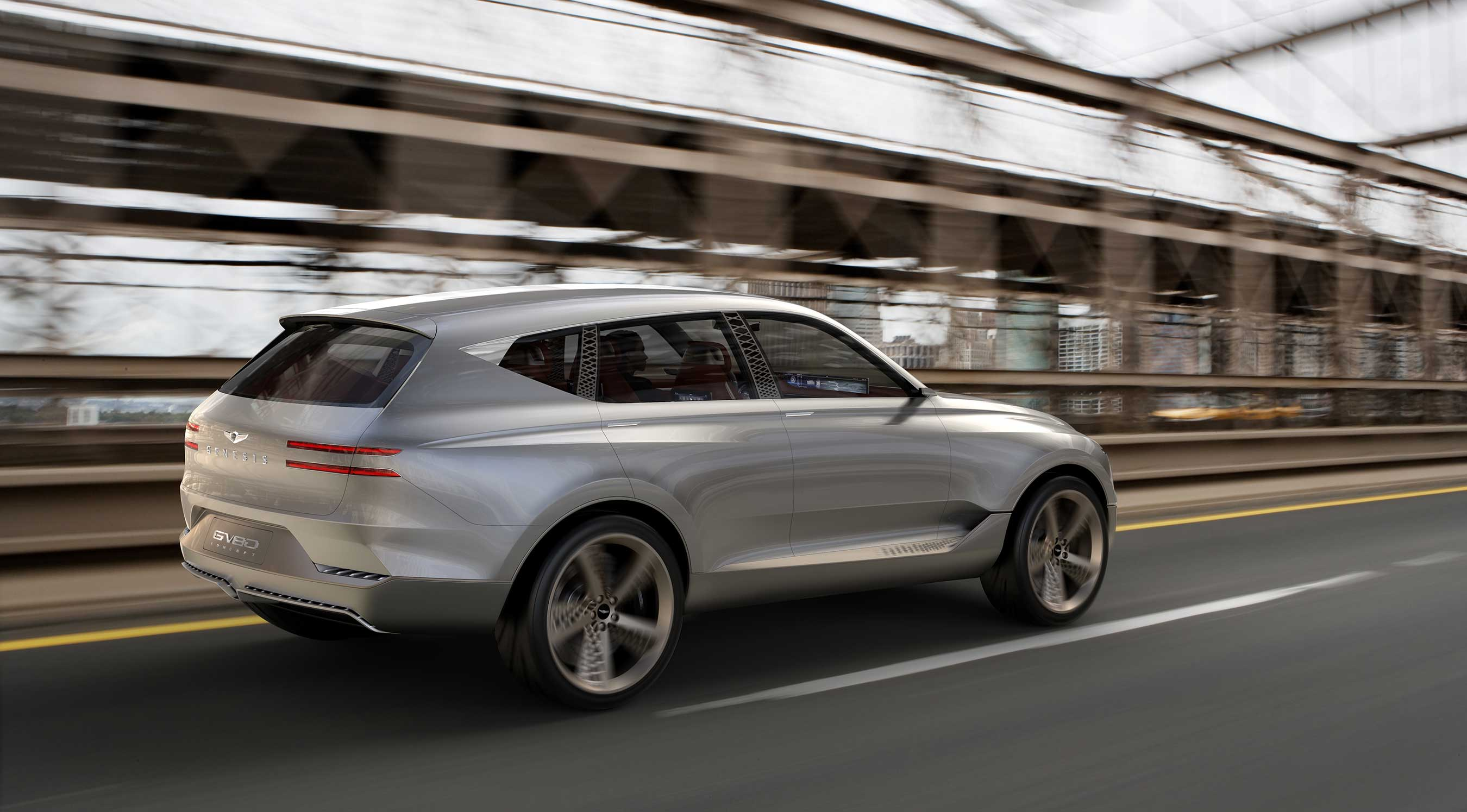 genesis reveals gv80 fuel cell concept suv at new york