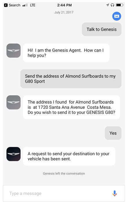 Genesis Announces New Google Assistant Compatibilities