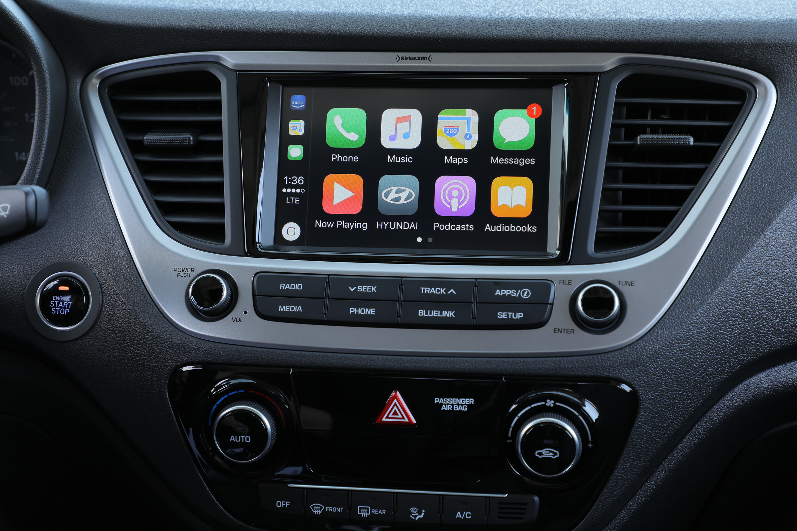 THE 7-INCH DISPLAY HAS BOTH APPLE CARPLAY™ AND ANDROID AUTO™ FOR SEAMLESS AND INTUITIVE OPERATION OF THE MOST COMMONLY USED SMARTPHONE FUNCTIONS, INCLUDING APP-BASED NAVIGATION, STREAMING AUDIO AND VOICE-CONTROLLED SEARCH CAPABILITIES.