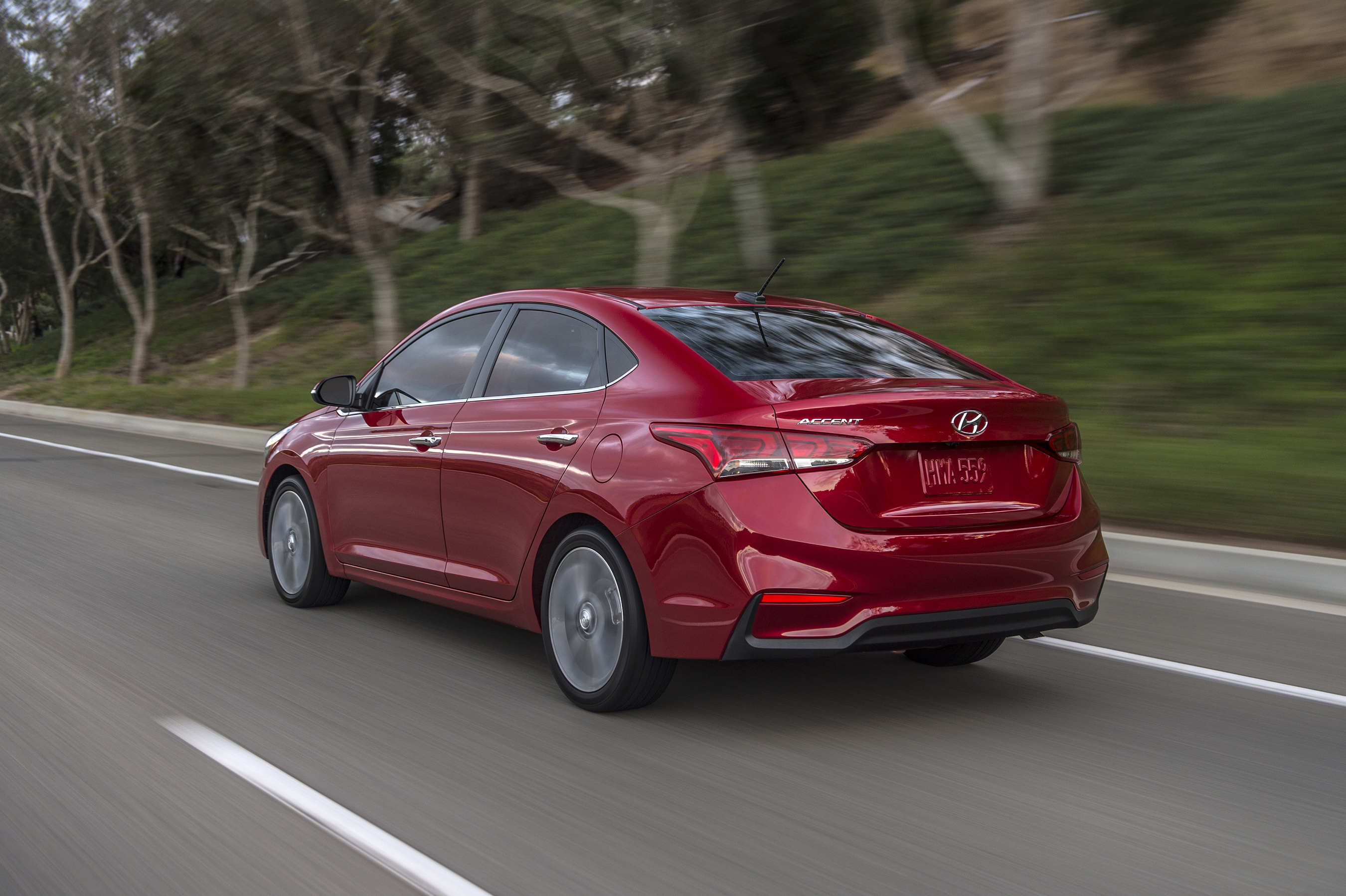Hyundai introduces all new 2018 accent at the orange for Hyundai motor finance usa