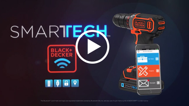 BLACK+DECKER™ announces its new line of award-winning SMARTECH™ Batteries, which use Bluetooth® Technology to connect to the new BLACK+DECKER™ Mobile App.