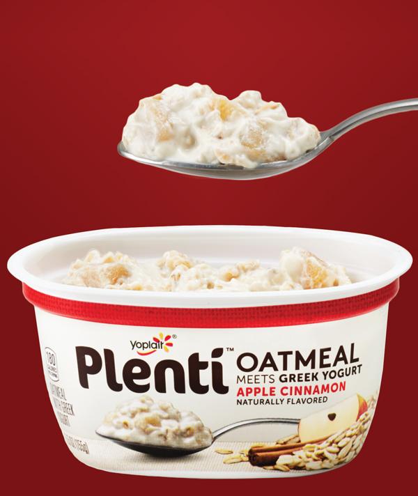 Plenti Oatmeal Meets Greek Yogurt: Apple Cinnamon
