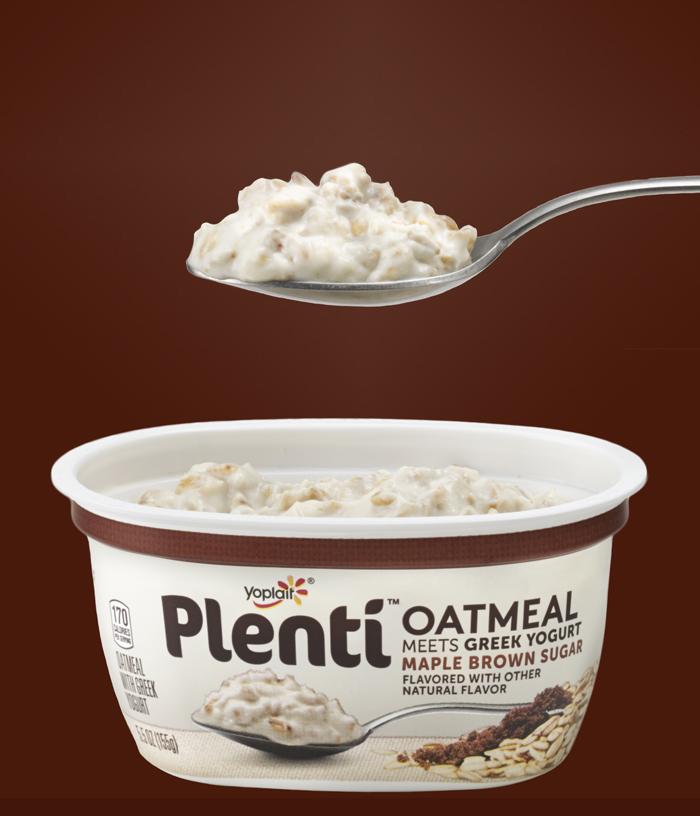 Plenti Oatmeal Meets Greek Yogurt: Maple Brown Sugar