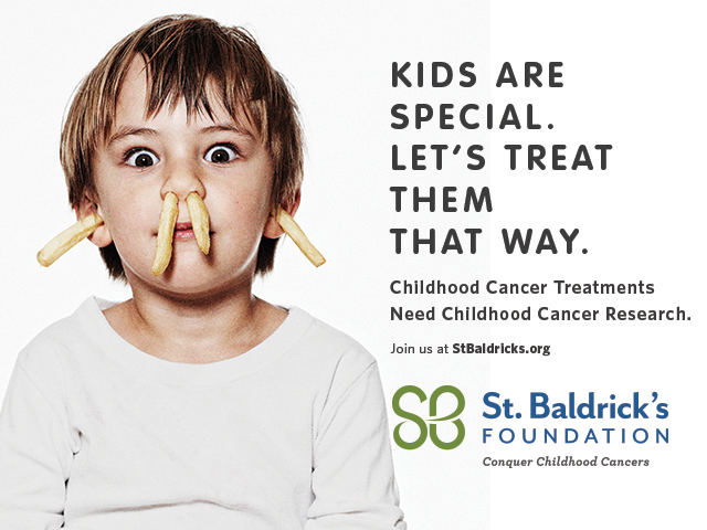 Focused on celebrating kids and giving them the happy childhoods they deserve, St. Baldrick's Kids Are Special: Let's Treat Them That Way initiative highlights the need for finding treatments that are specifically designed for kids with cancer. Because #KidsAreSpecial.
