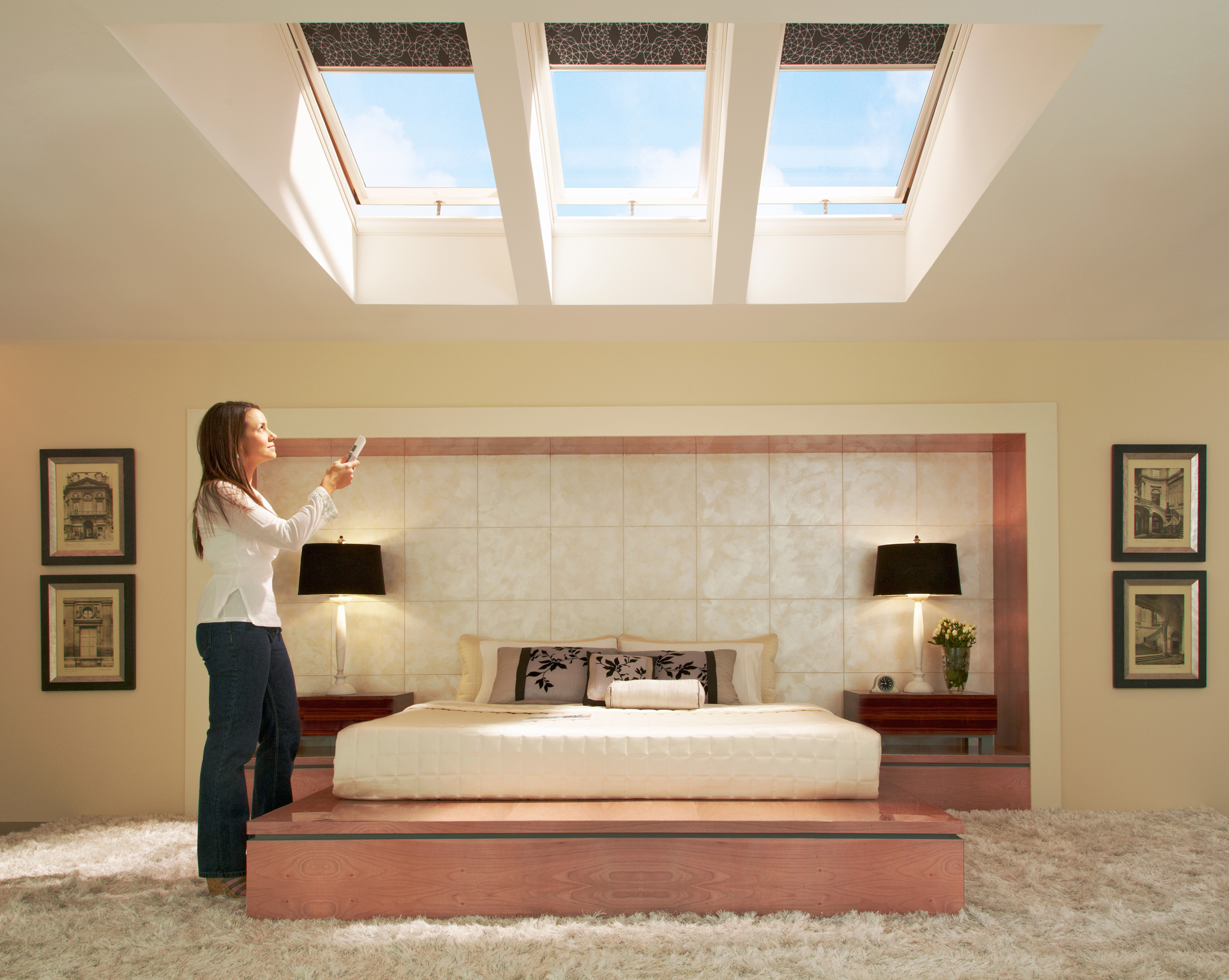 Homeowners Save Now And Later With Velux Solar Ed Skylights Blinds