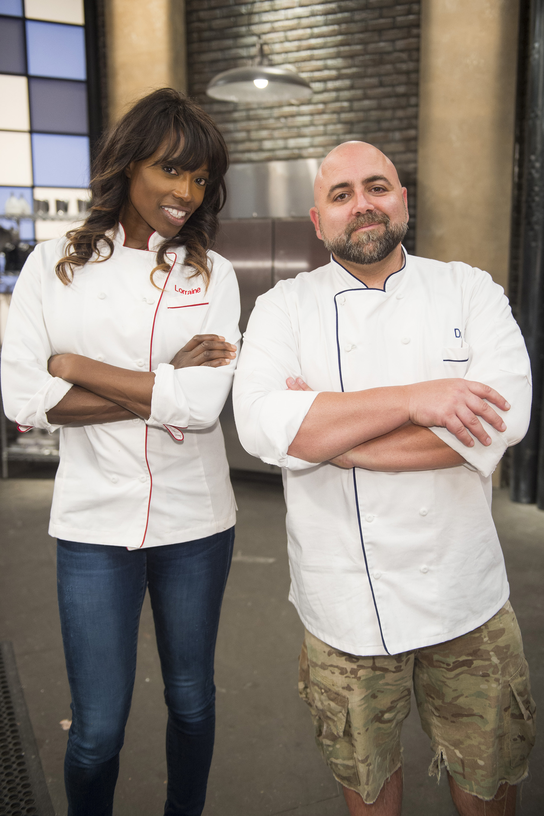 Hosts Lorraine Pascale and Duff Goldman on Food Network's Worst Bakers in America