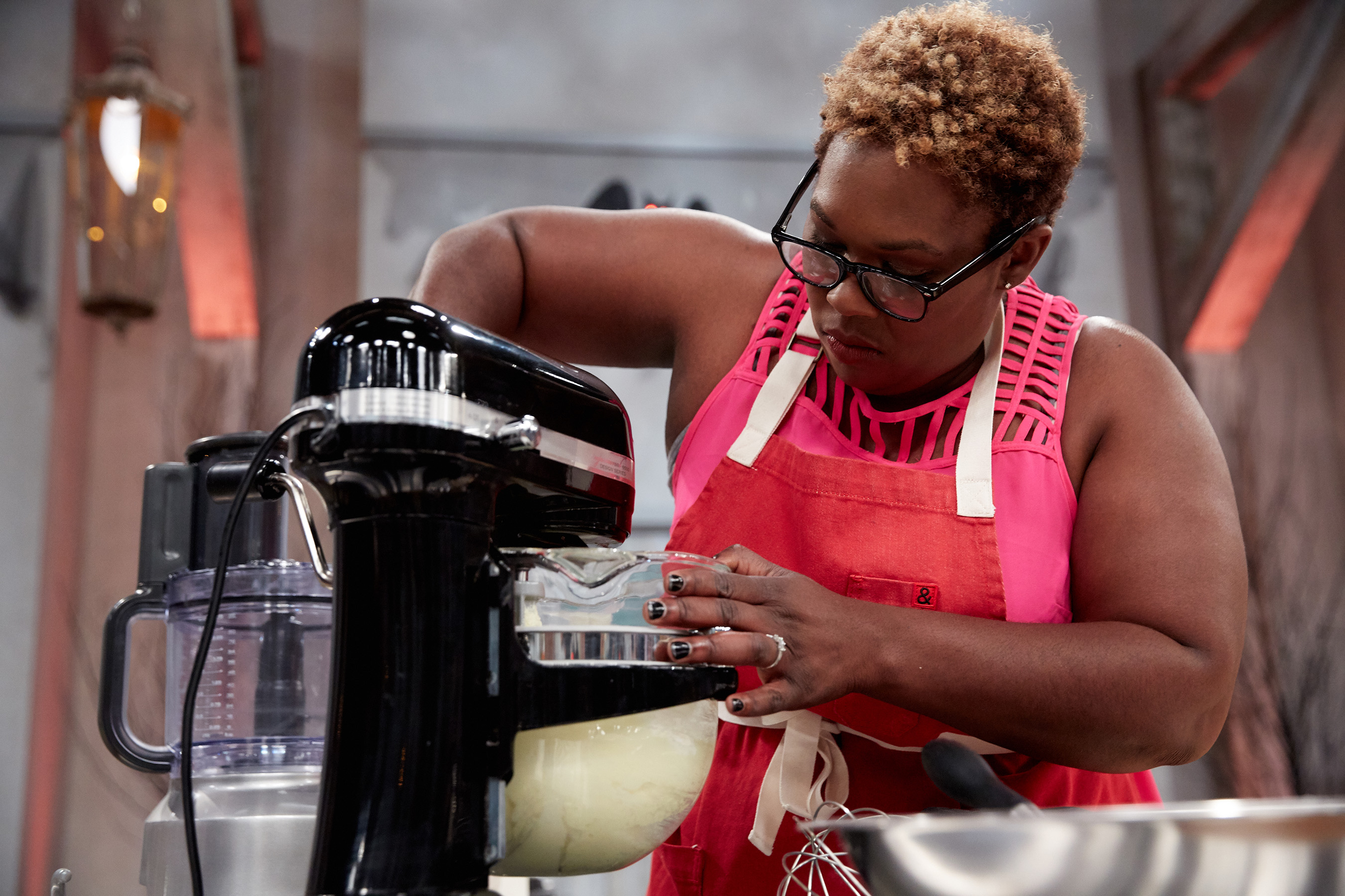 Halloween Baking Championship Contestant Tamara Brown During the Competition