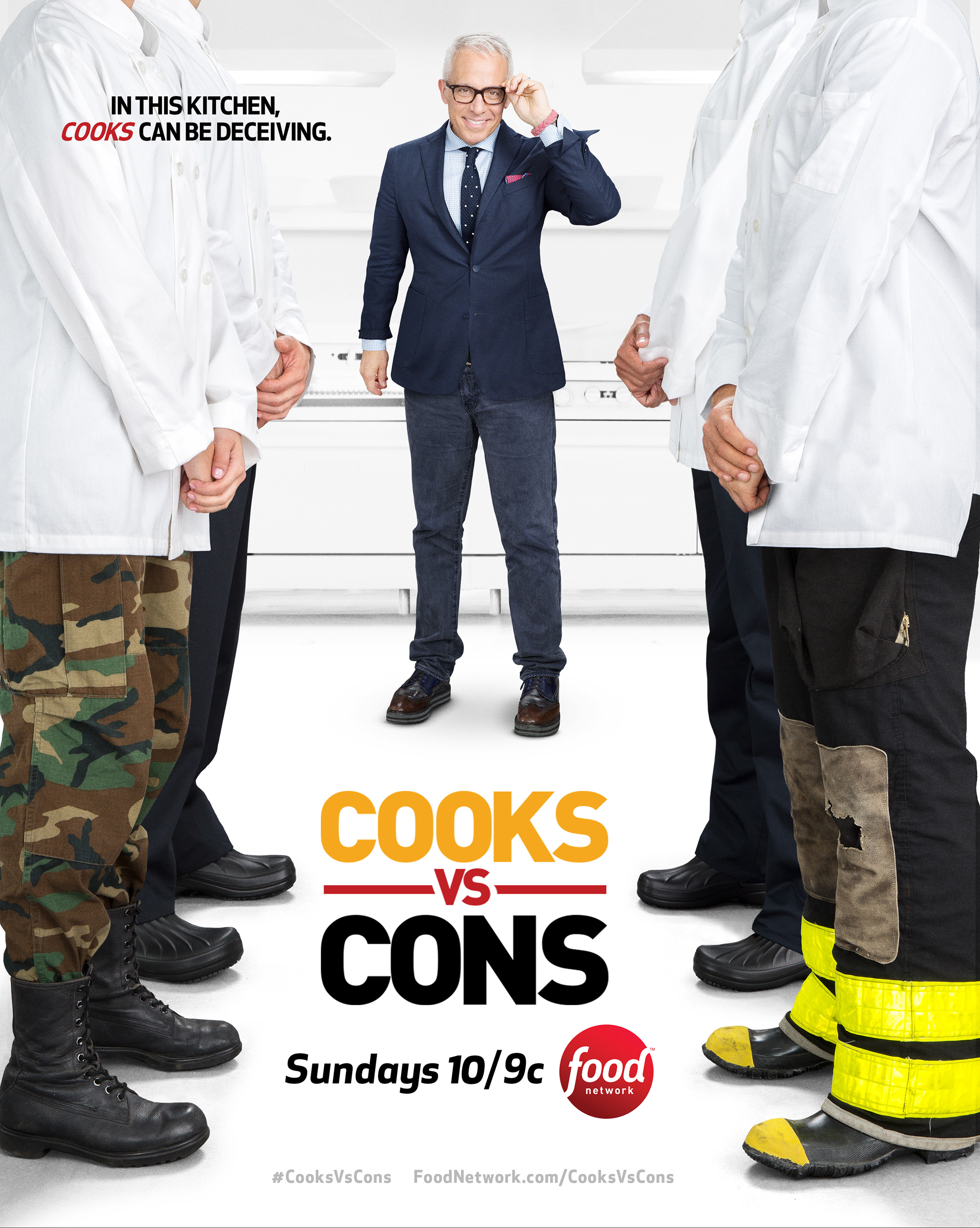 Tune in to the new season of Food Network's Cooks vs. Cons on July 10th at 10pm