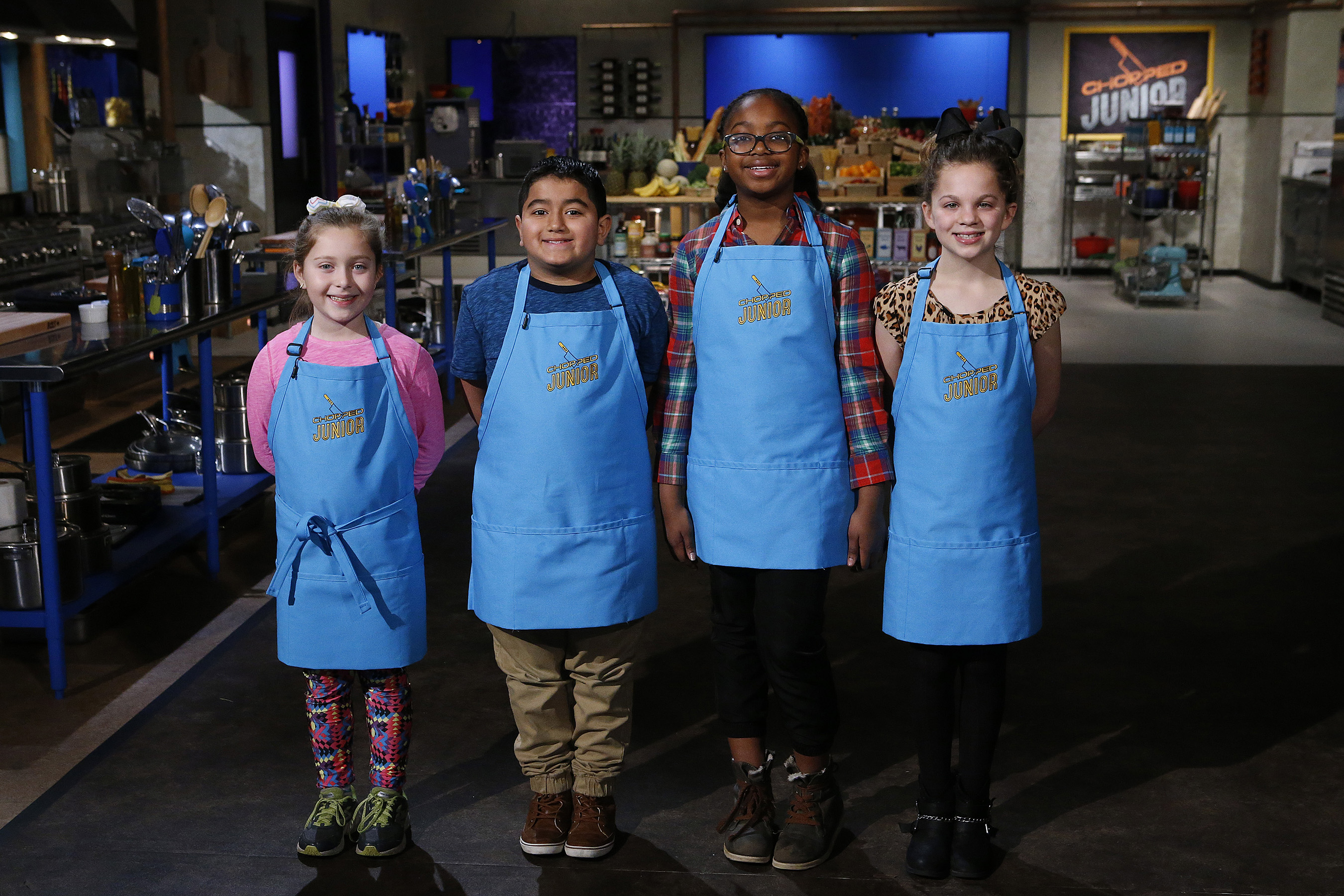 Junior chefs competing on Food Network's Chopped Junior