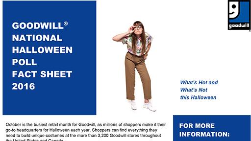 Download the Goodwill Halloween Poll's Fact Sheet