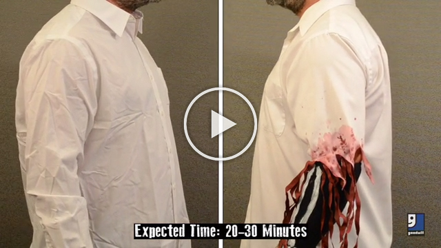 Transform yourself into a one-armed zombie with this video