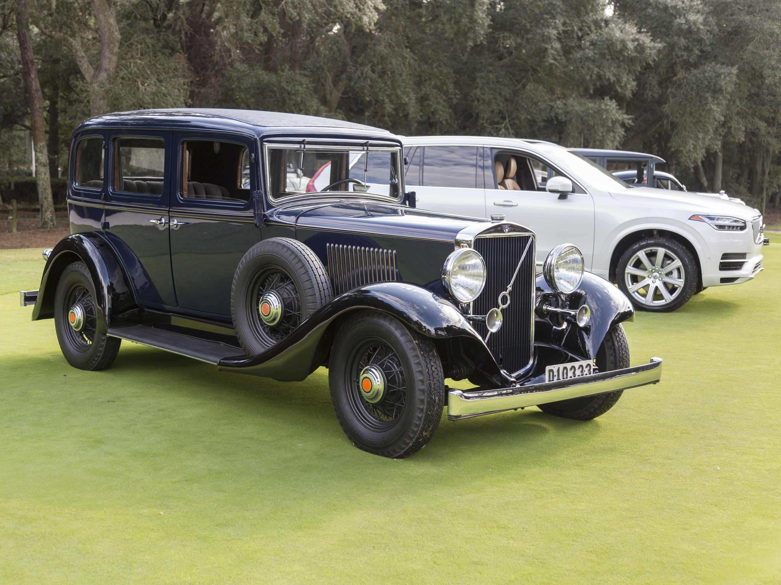 Volvo brought this 1933 Volvo PV654, the company's first luxury car.