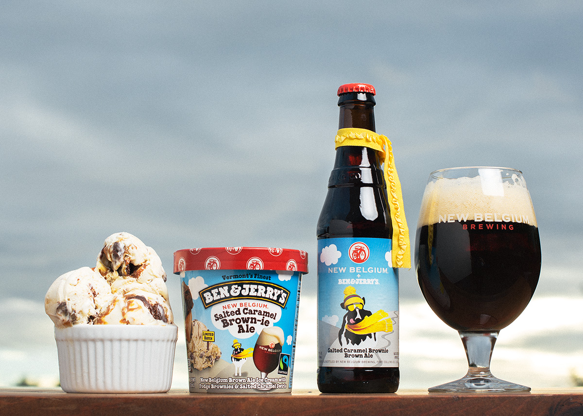 Ben & Jerry's and New Belgium Brewing Toast to the Next Pint in their Partnership