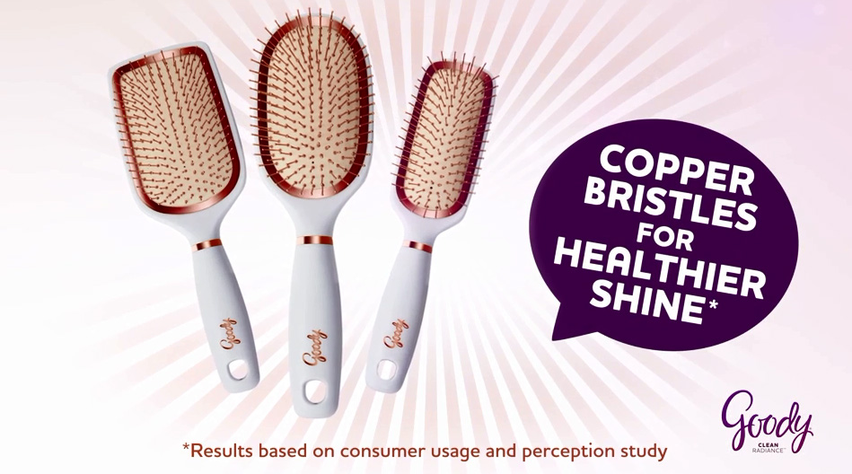New Goody Clean Radiance brushes arrive in three head types: Paddle, Cushion, and Styler.