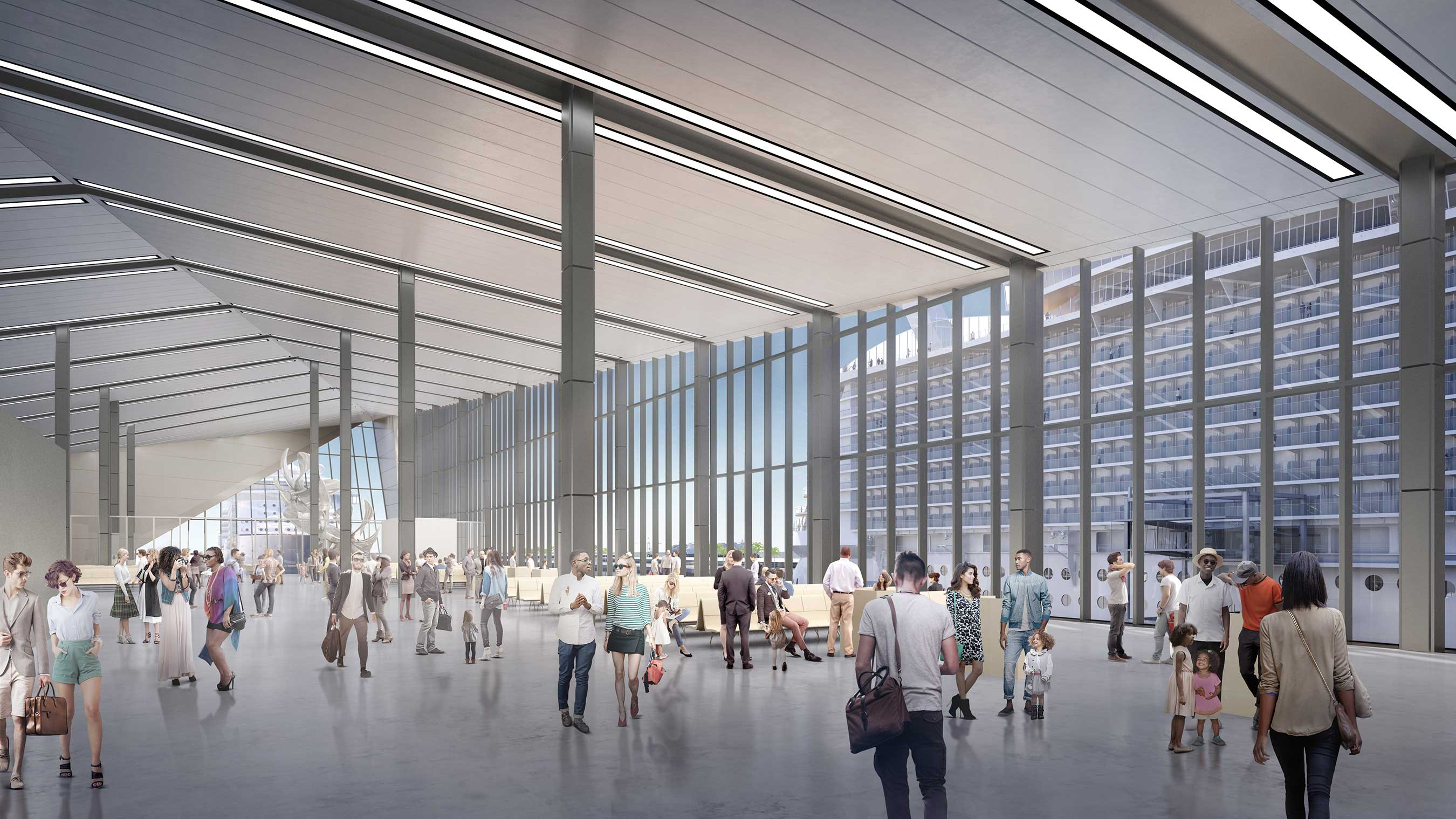 Intuitive, bold design will bring Royal Caribbean Cruises Ltd.'s (RCL) state-of-the-art terminal to life in late 2018.