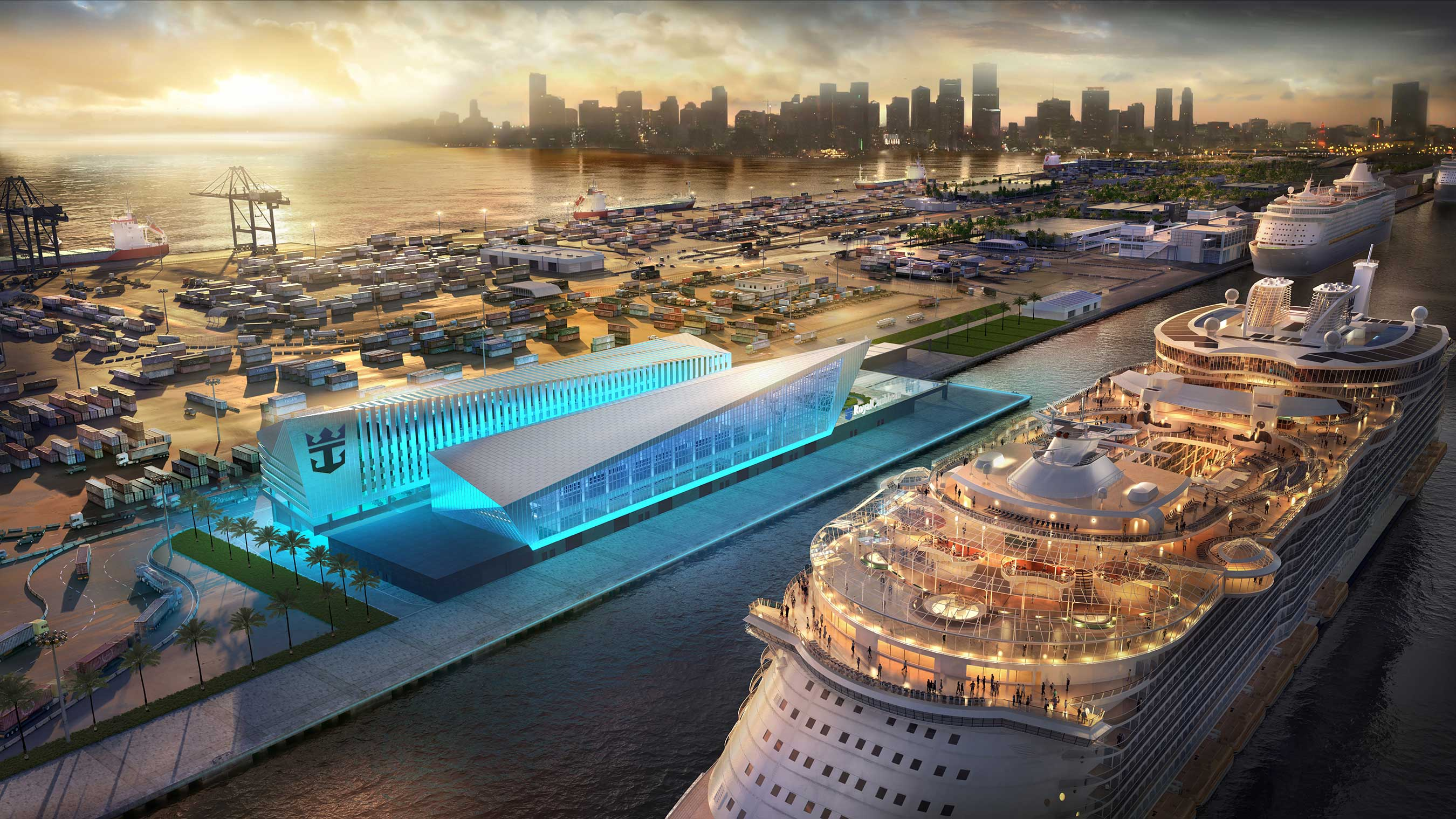 Royal Caribbean Cruises Ltd. (RCL), in agreement with Miami-Dade County, will build and operate a new, world-class terminal at PortMiami. The iconic building is scheduled for late 2018.