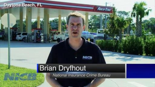 Brian Dryfhout talking in front of gas station