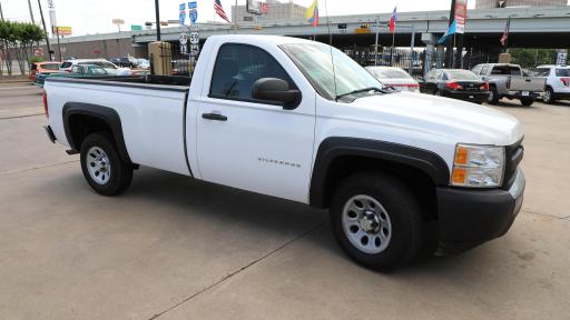 A picture of a white Chevy Silverado involved in a bad deal