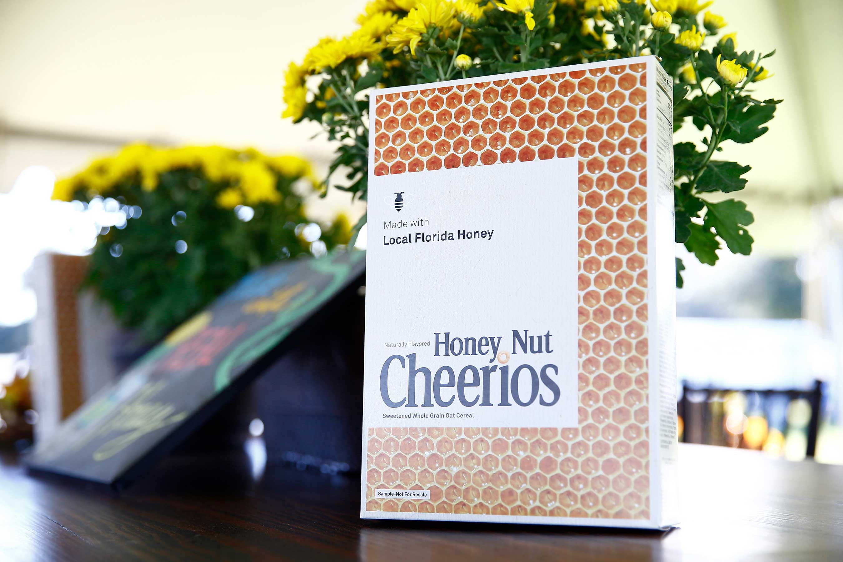 1 of only 40 limited edition boxes of Honey Nut Cheerios made from Bee Keeper Brent Dickson's real honey