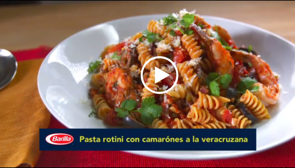 Ingrid Hoffmann whips up a nutritious Latino Italian Fusion dish with fresh shrimp, Barilla rotini pasta and flavors inspired by coastal Mexico.