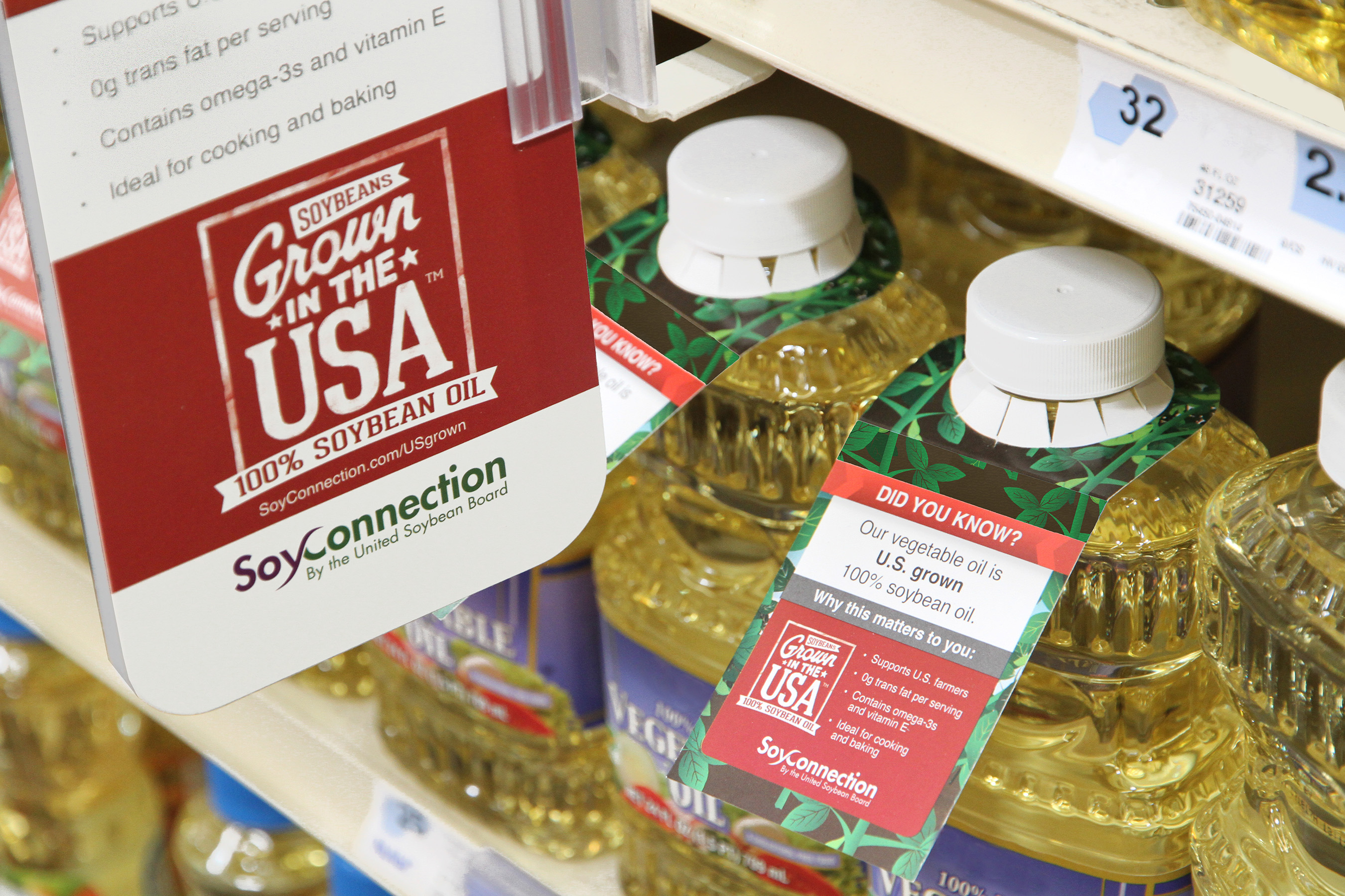 Did you know most vegetable oil is 100 percent soybean oil made from soybeans grown in the U.S.?