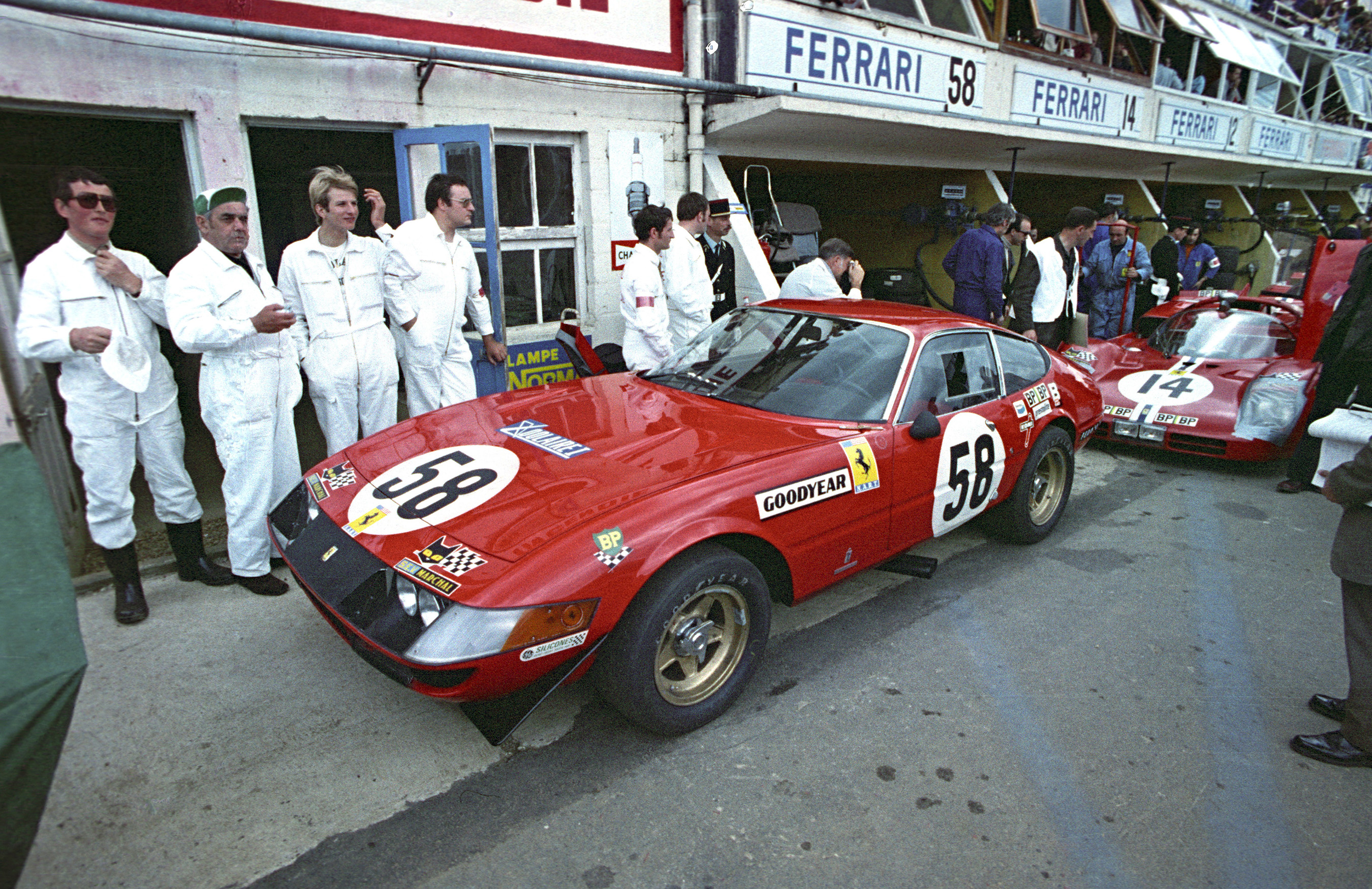 Ferrari Chassis 12467 After taking 5th overall at 1971 24 hours of Le Mans wins the Index of Thermal Efficiency