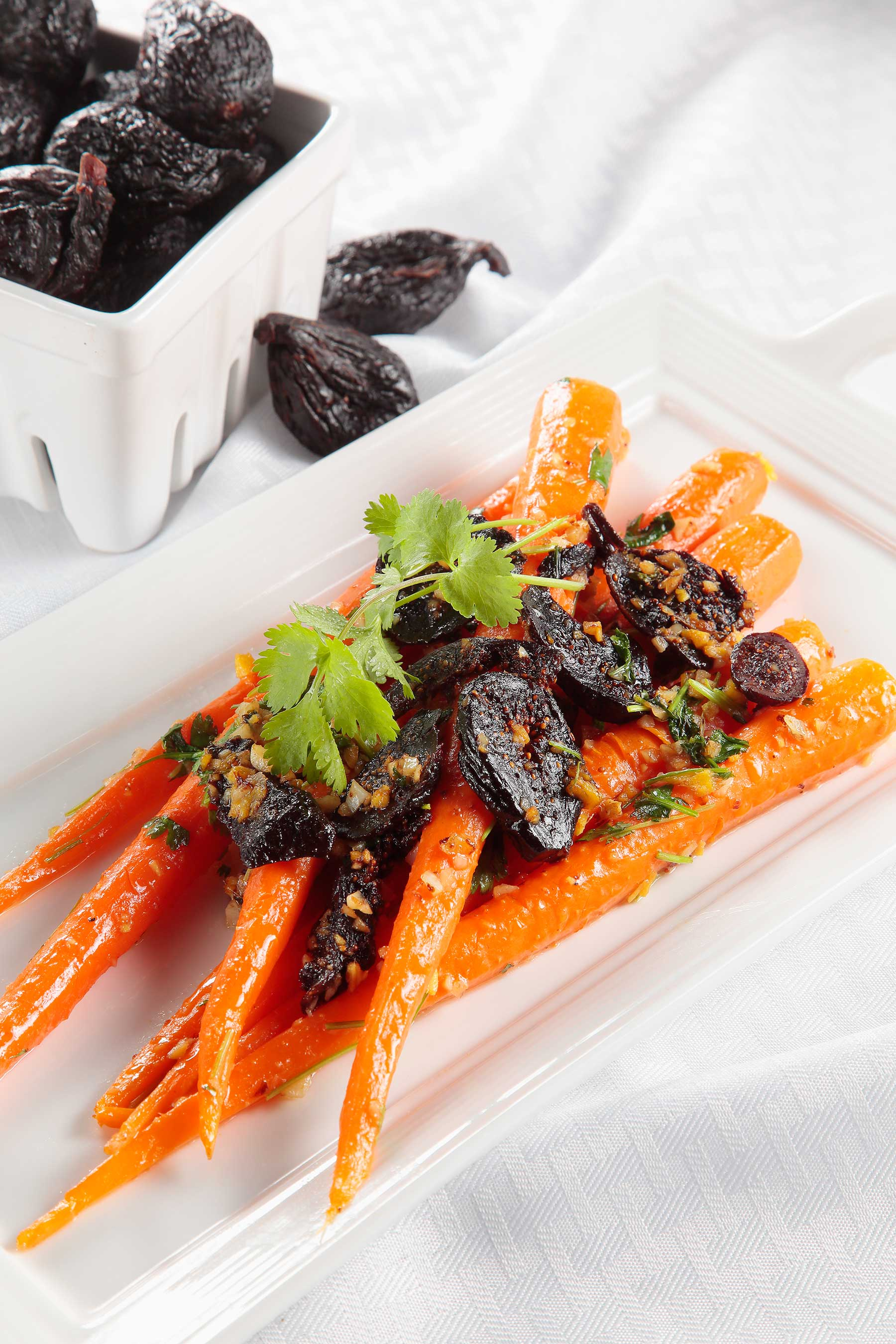Pump up the flavor of glazed carrots with California Dried Figs