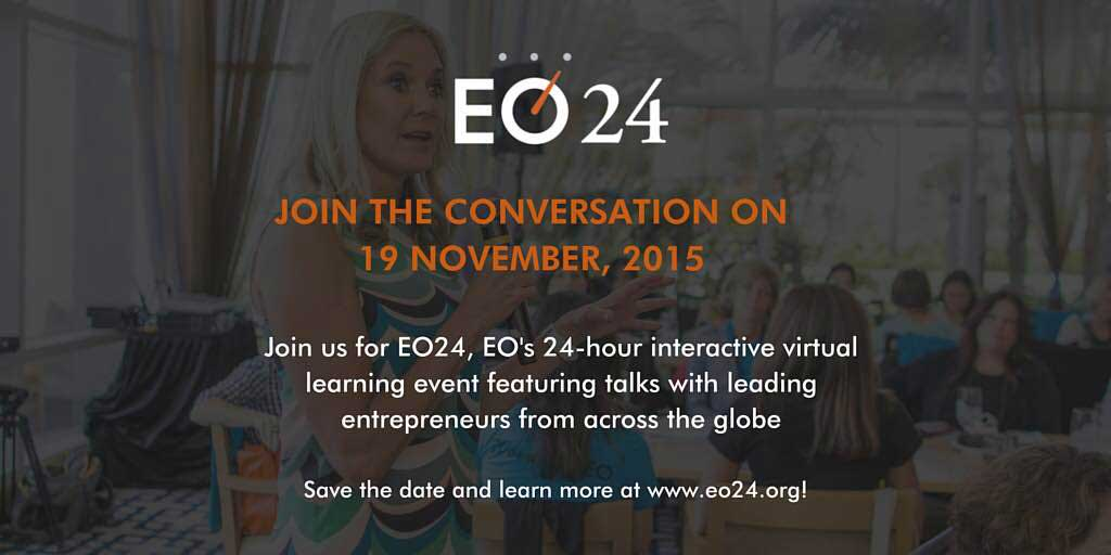 #EO24, a global virtual learning event by Entrepreneurs' Organization.