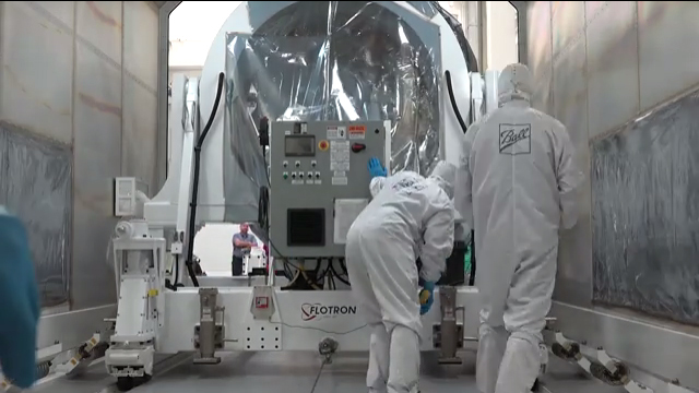 The NOAA JPSS-1 spacecraft is loaded onto a delivery truck for departure from Ball Aerospace and will arrive at Vandenberg Airforce Base for preparation for launch. VIDEO CREDIT: Ball Aerospace
