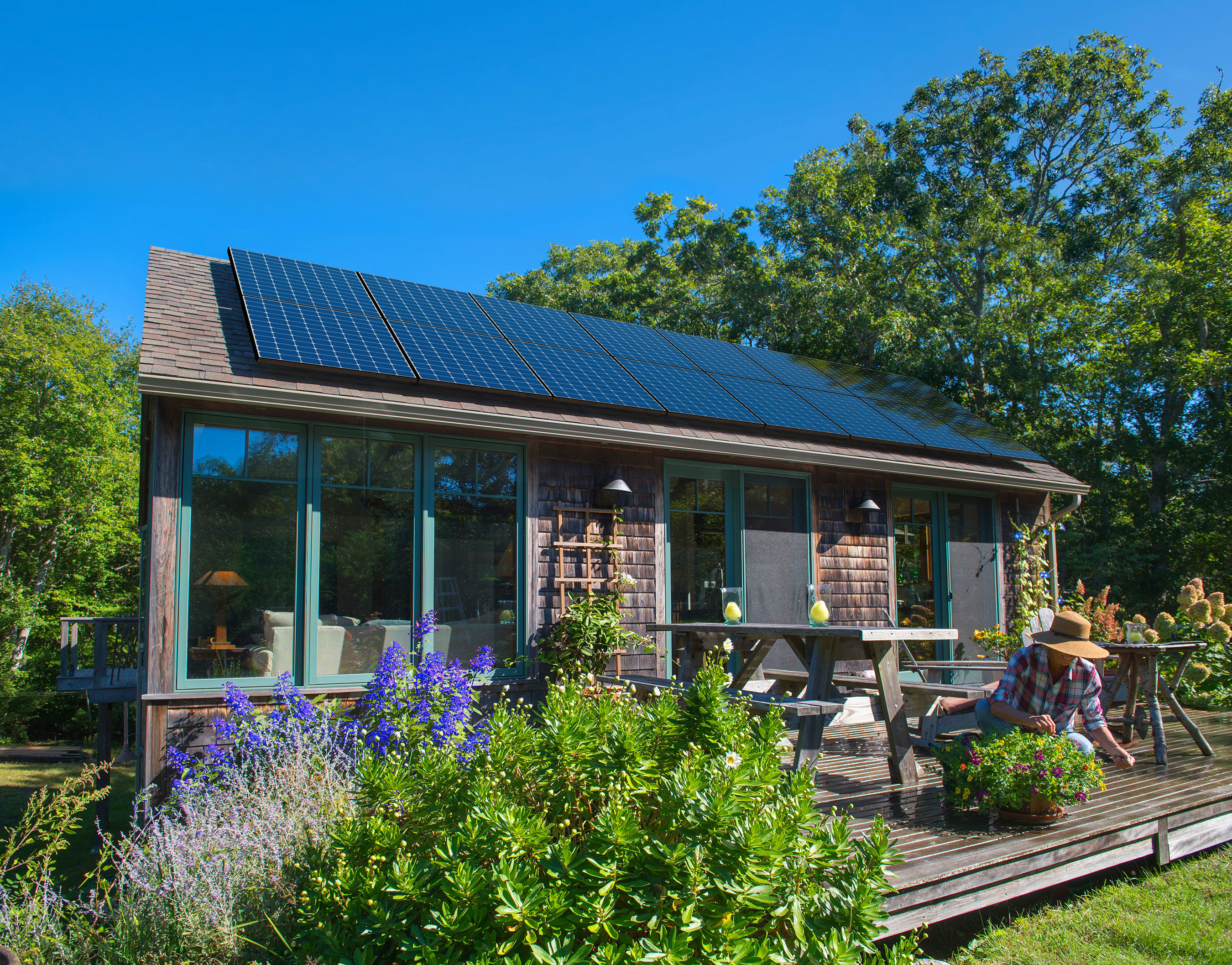 Approximately 500 solar power systems are operating on Martha's Vineyard. South Mountain Company has installed about 250 for residential, commercial, and institutional customers on the island.
