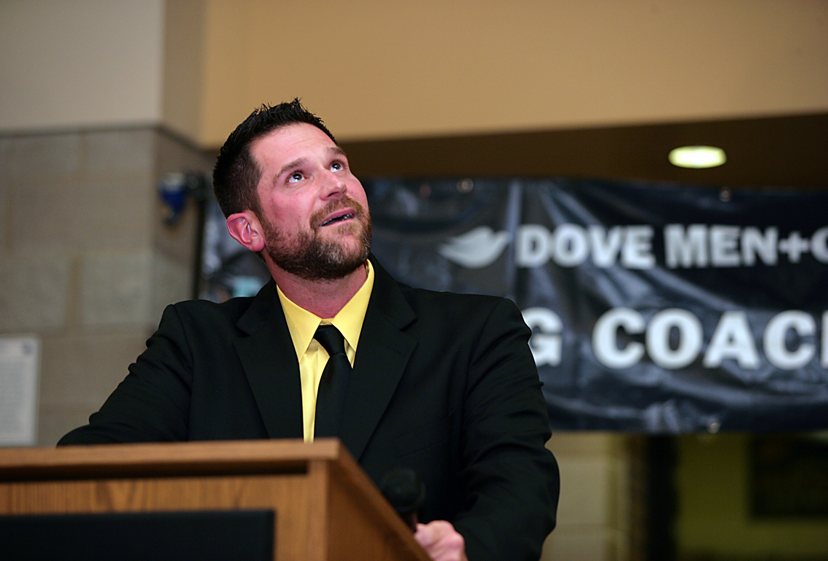 Coach Brent Widdows, head football coach of Sterling Heights High School in Sterling Heights, MI