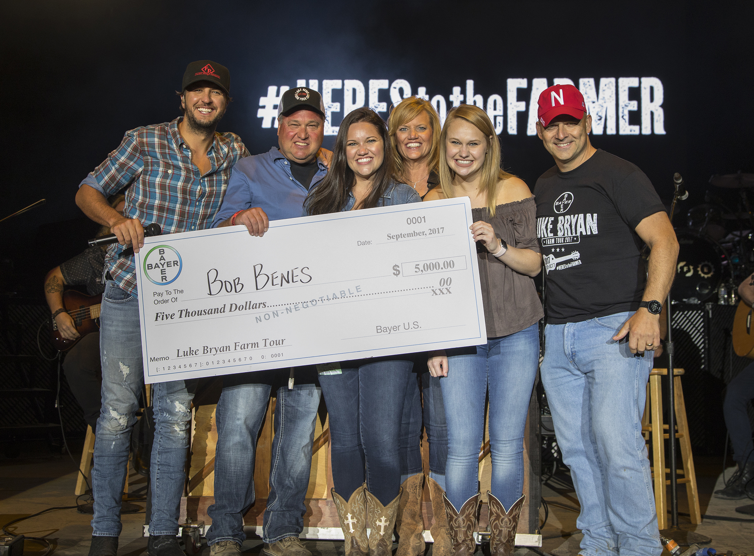 Bayer's Here's To The Farmer campaign also donated over $10,000 to local food banks and honored a local farmer on stage with Luke Bryan at each location