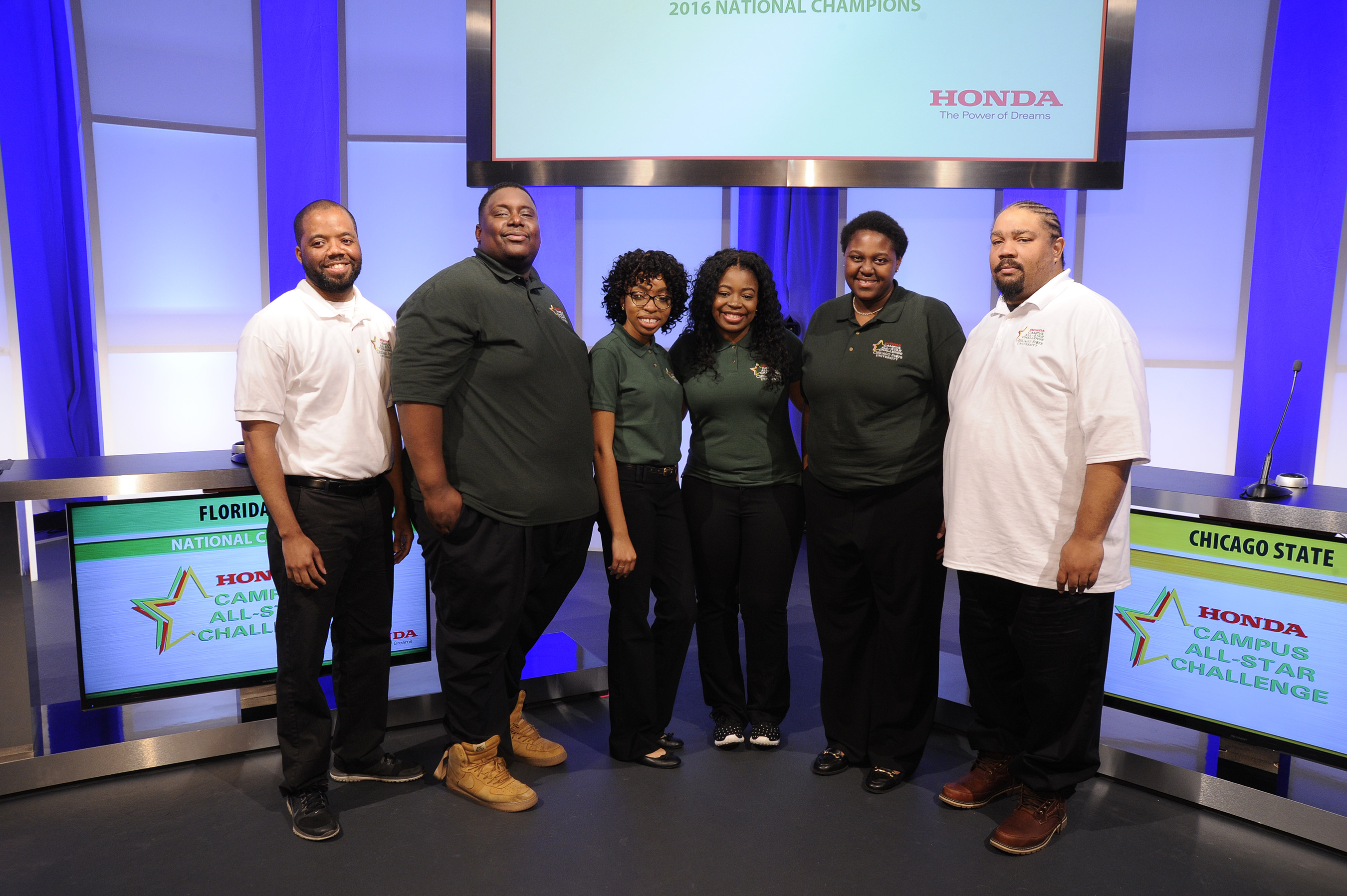 The team from Chicago State University, this year's runner-up in the 27th Honda Campus All-Star Challenge National Championship.