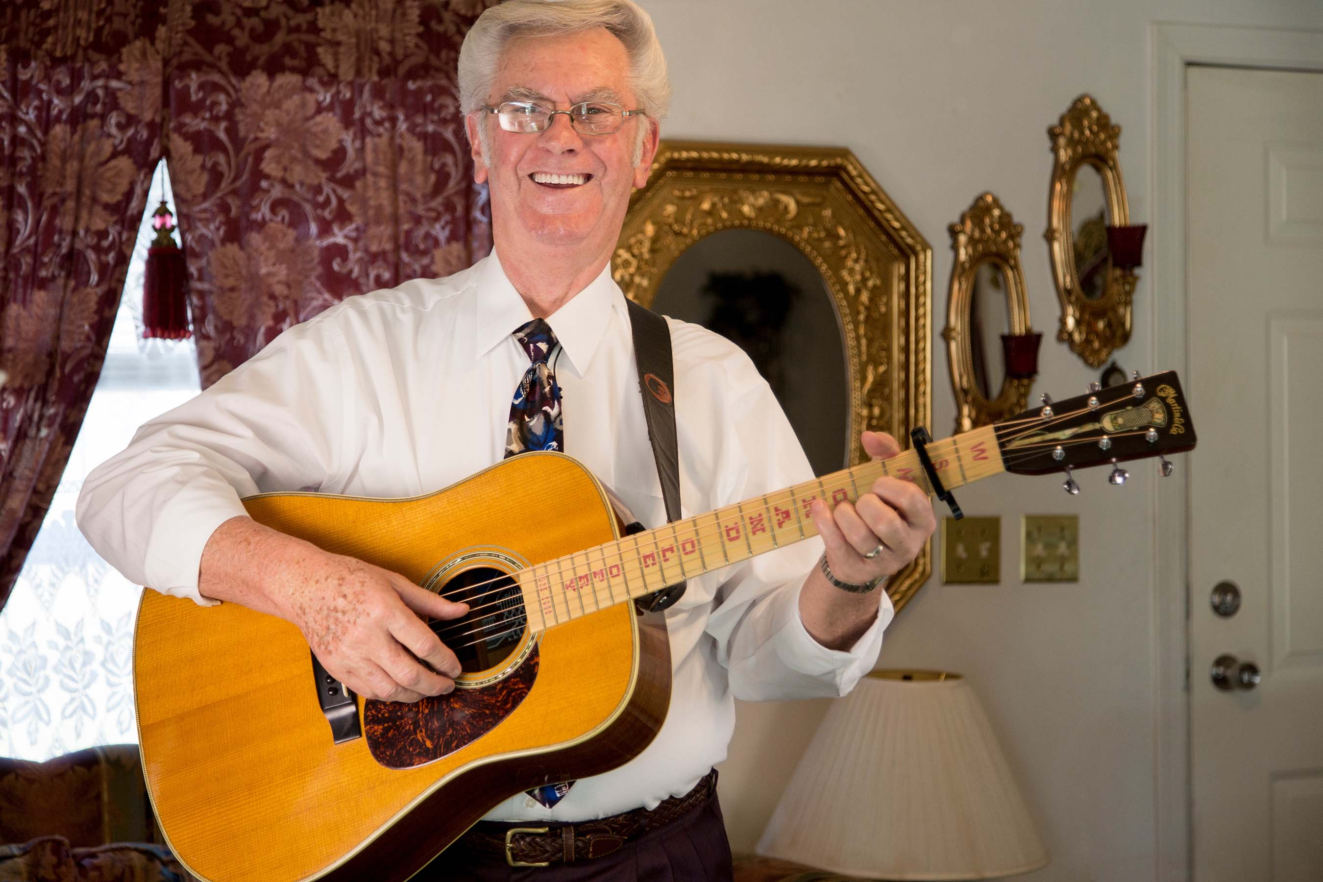 Lee Allen has been playing bluegrass music on his guitar for 50 years.