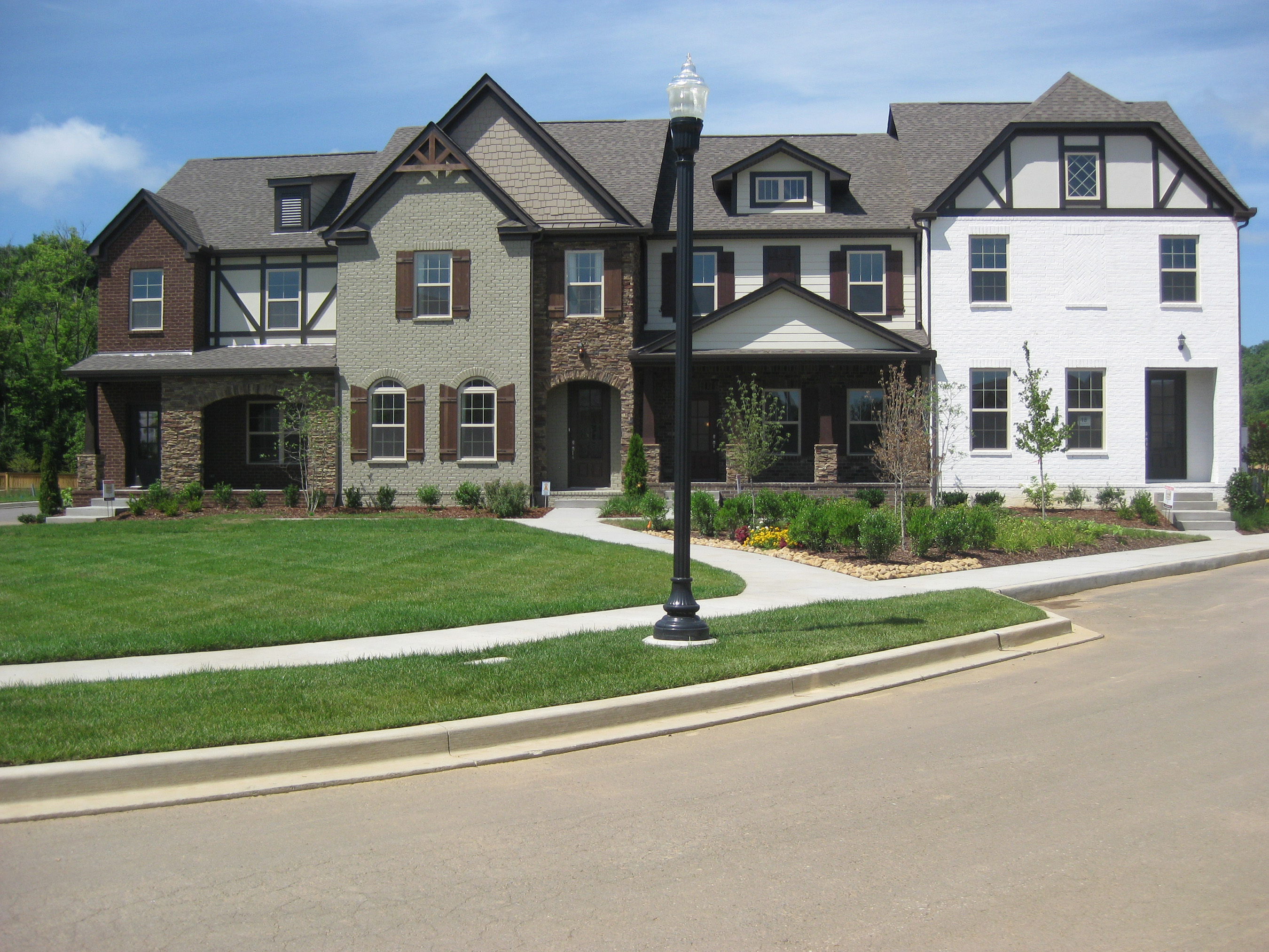 Through the Goodall Homes acquisition, Clayton will be building town homes like these pictured here.