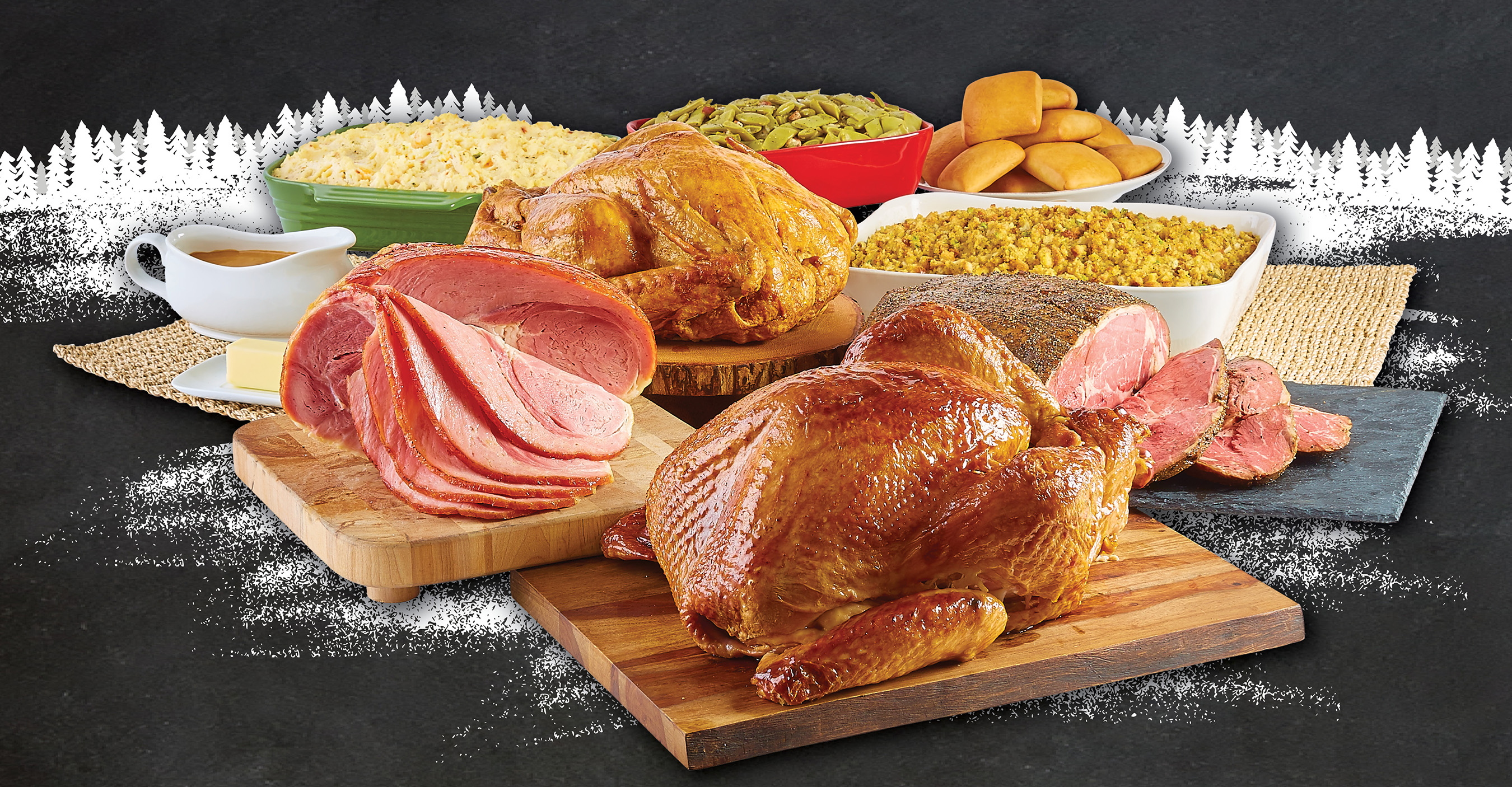 Dickey's offers full holiday feasts and a la carte meats