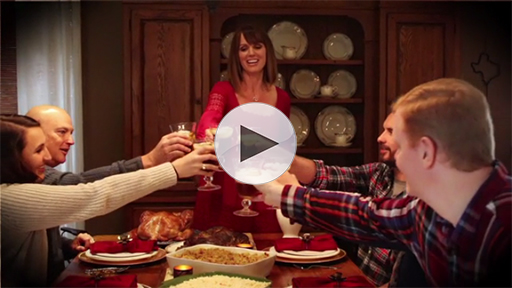 Hang up your apron and spend more time around the table with your loved ones this holiday season
