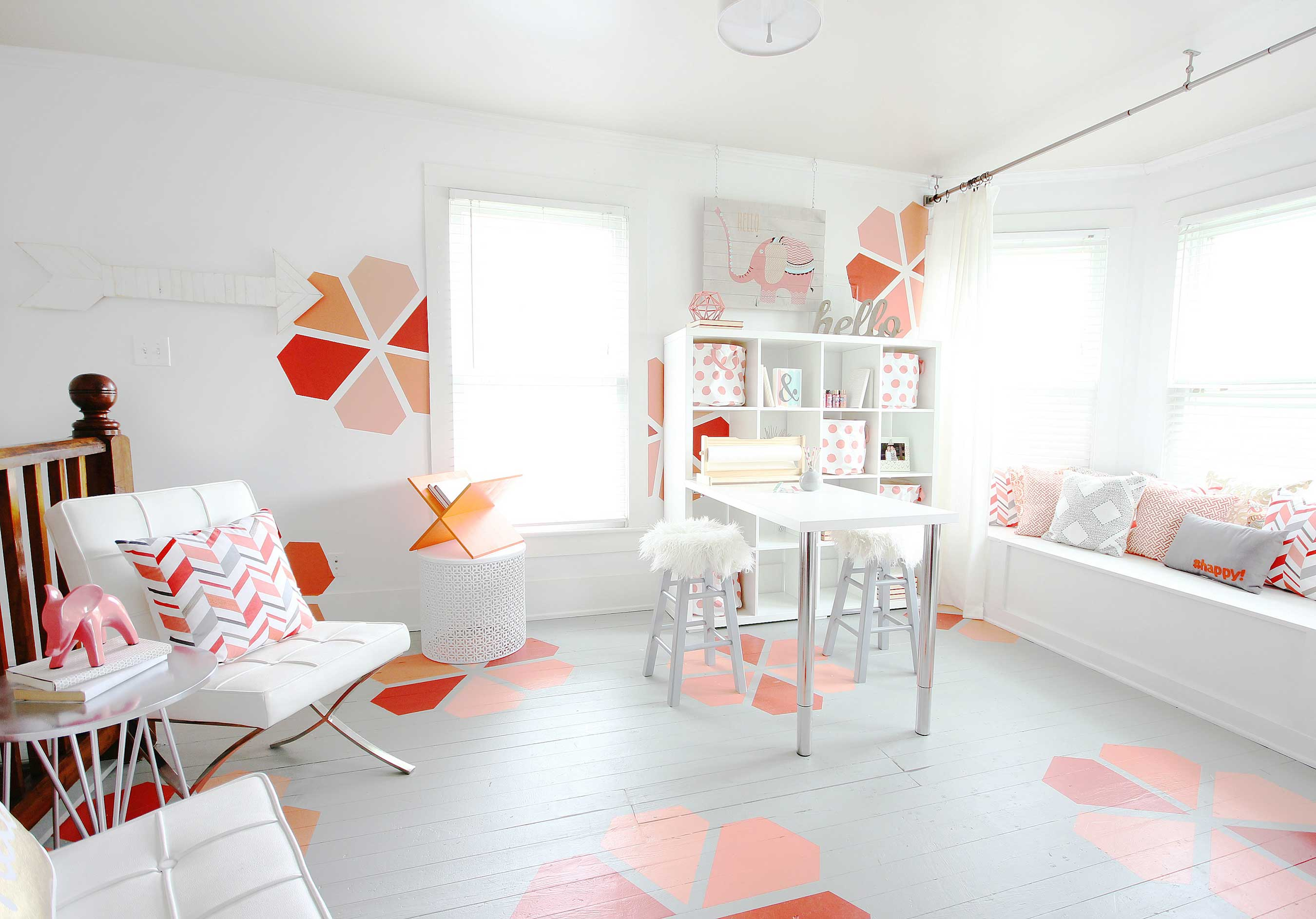 """Winner: KariAnne Wood, """"Thistlewood Farms"""" – final room reveal for FrogTapeFrogTape® Paintover Challenge™"""
