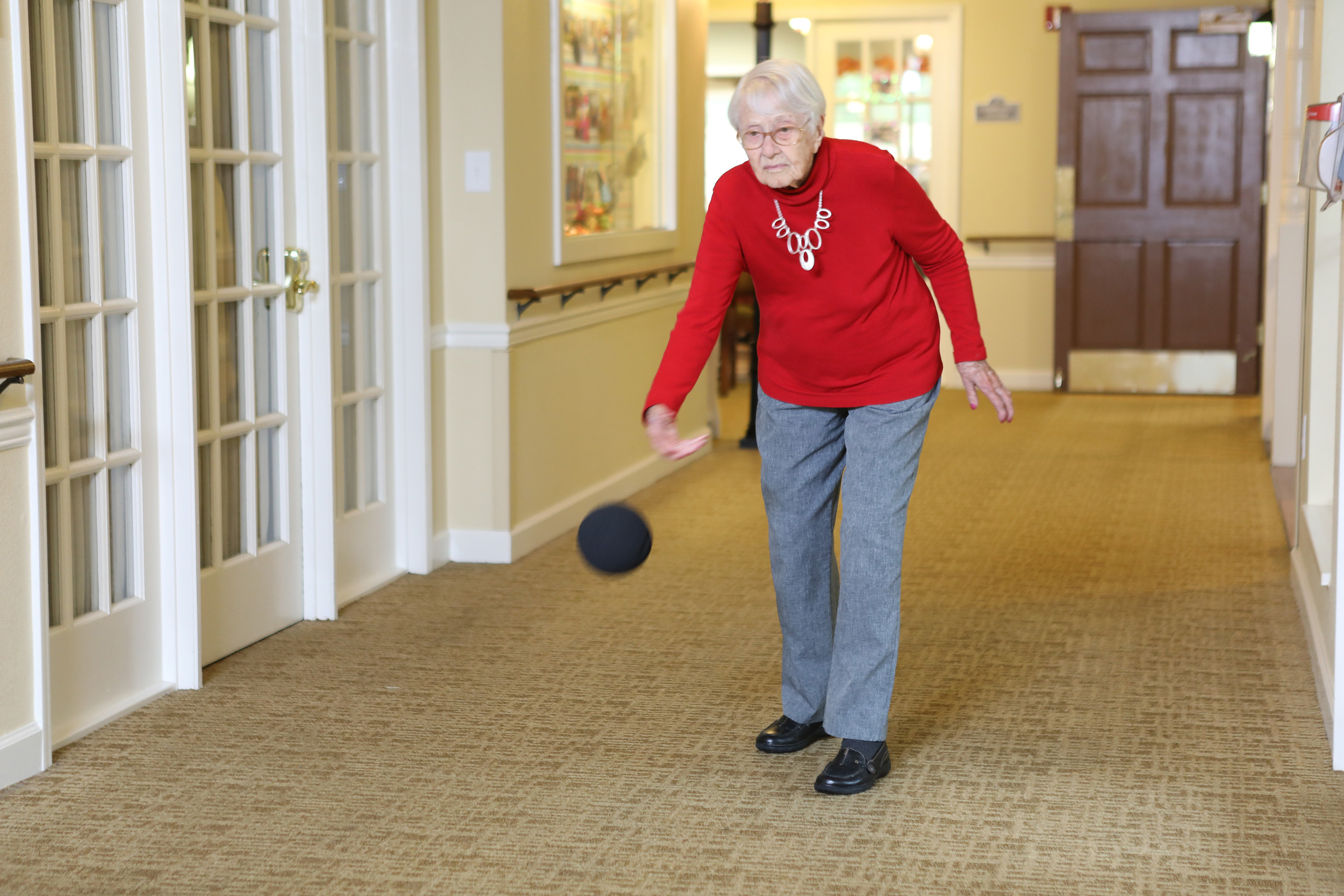 Dorothy is an avid bowler. She bowled with an 11 pound ball until she was 101 years old. Now she enjoys bowling at her Brookdale community.