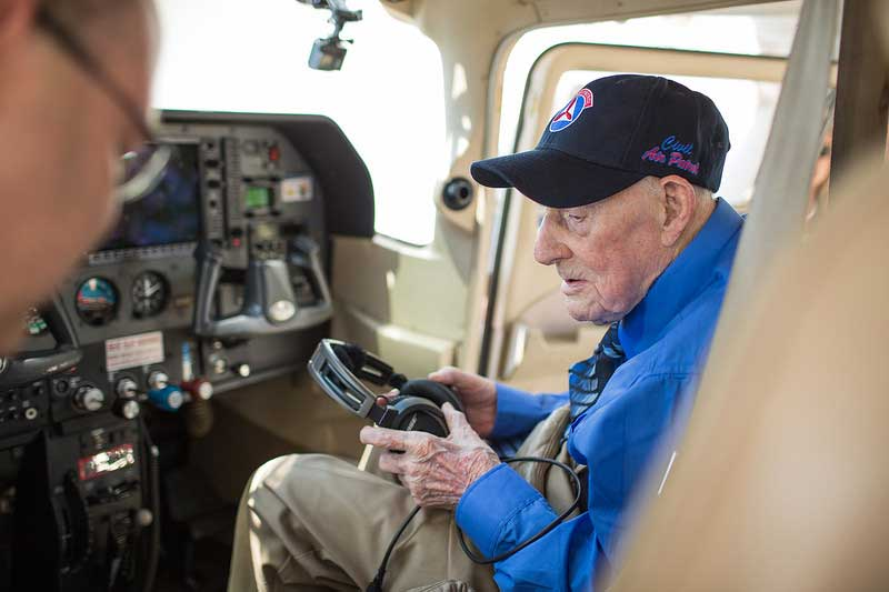 Mac McCue, 104, not only got his Wish to fly for the first time in 20 years but he was also surprised with the Congressional Gold Medal.