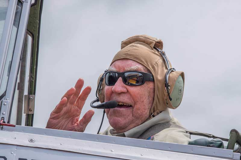 Roger Dawson, 95, revisited the days he spent training pilots when he fulfilled his Wish to fly the SNJ-4 Texan again, the same aircraft he used in teaching other service members.