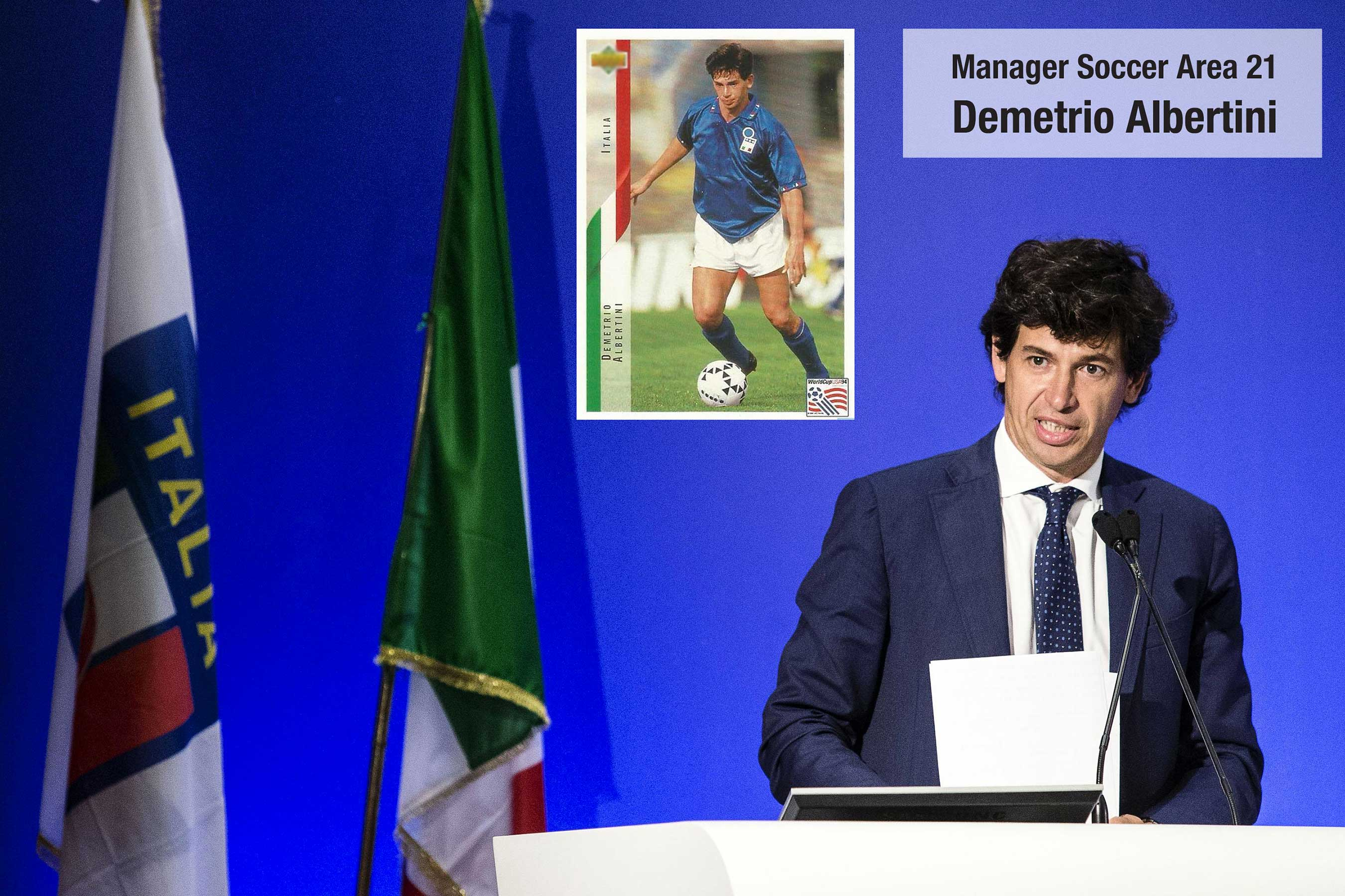 Demetrio Albertini the unforgettable champion from AC Milan and the Italian national team vice champions on the USA World Cup in 1994. now a successful manager who has already served as Vice President of the Italian Soccer Federation.