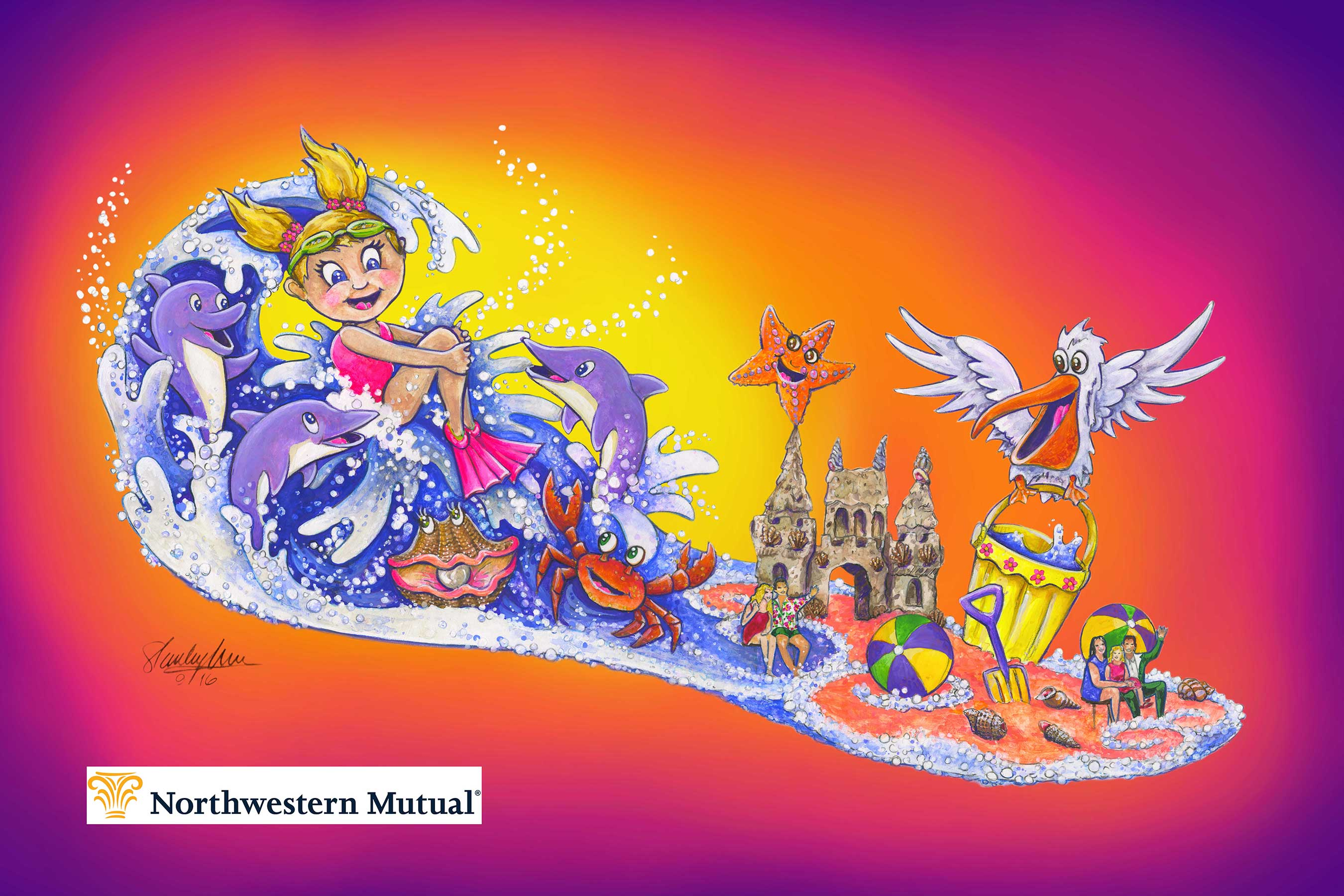 "Northwestern Mutual has unveiled ""Waves of Hope,"" its float in the 2017 Rose Parade®. The float will showcase the company's commitment to the fight against childhood cancer by honoring a family touched by cancer and others instrumental in their fight."
