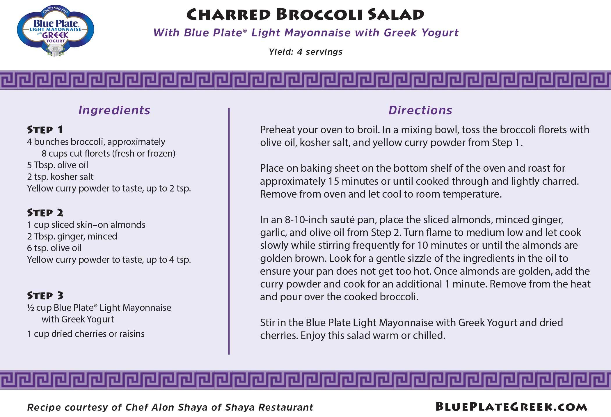 Three recipes from James Beard Award winner Chef Alon Shaya, featuring the new Blue Plate Light Mayonnaise with Greek Yogurt