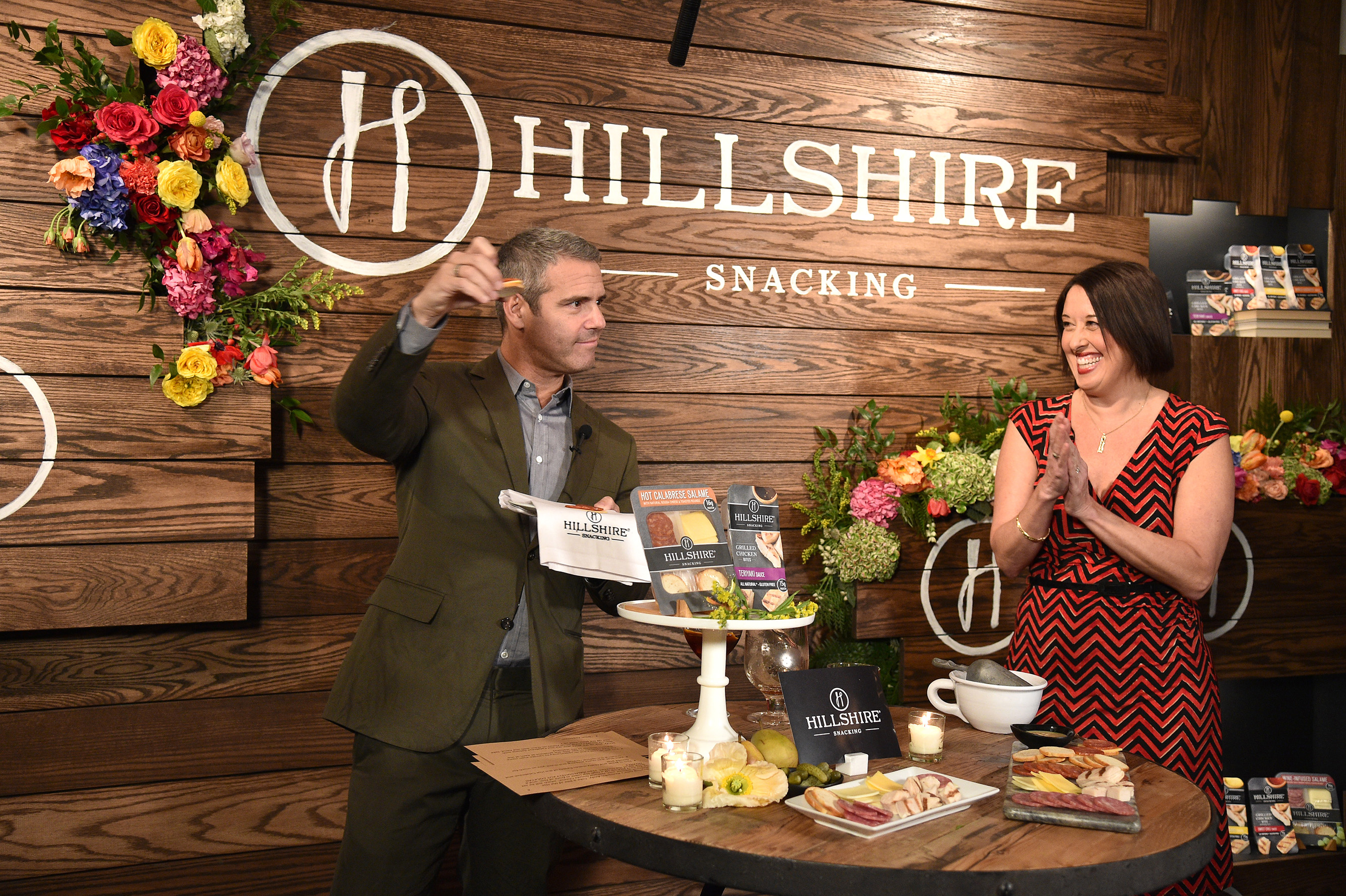 Watch what happens! Andy Cohen hosts Hillshire Snacking launch party in NYC.